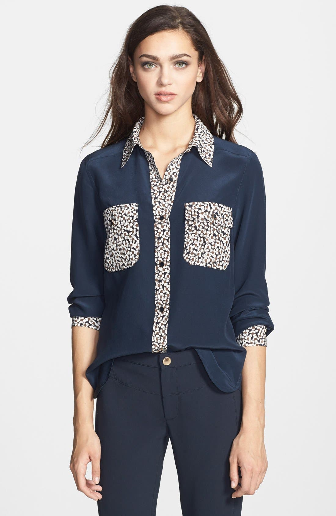 Alternate Image 1 Selected - MARC BY MARC JACOBS 'Bianca' Silk Top