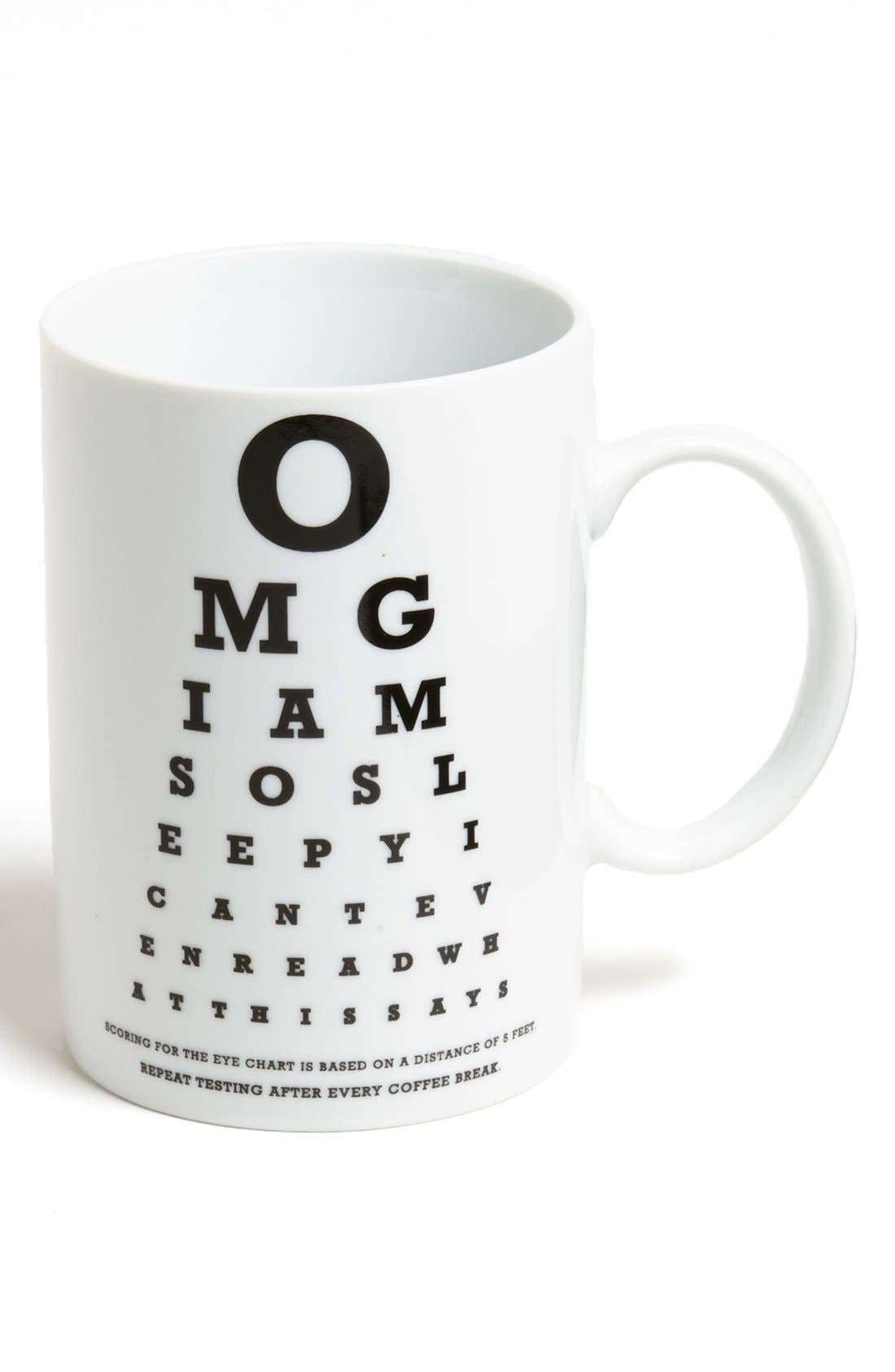 Alternate Image 1 Selected - Wink 'OMG Eye Chart' Ceramic Mug