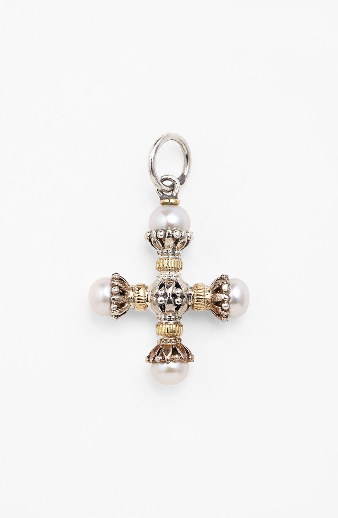 Konstantino 'Classics' Pearl Maltese Cross Pendant