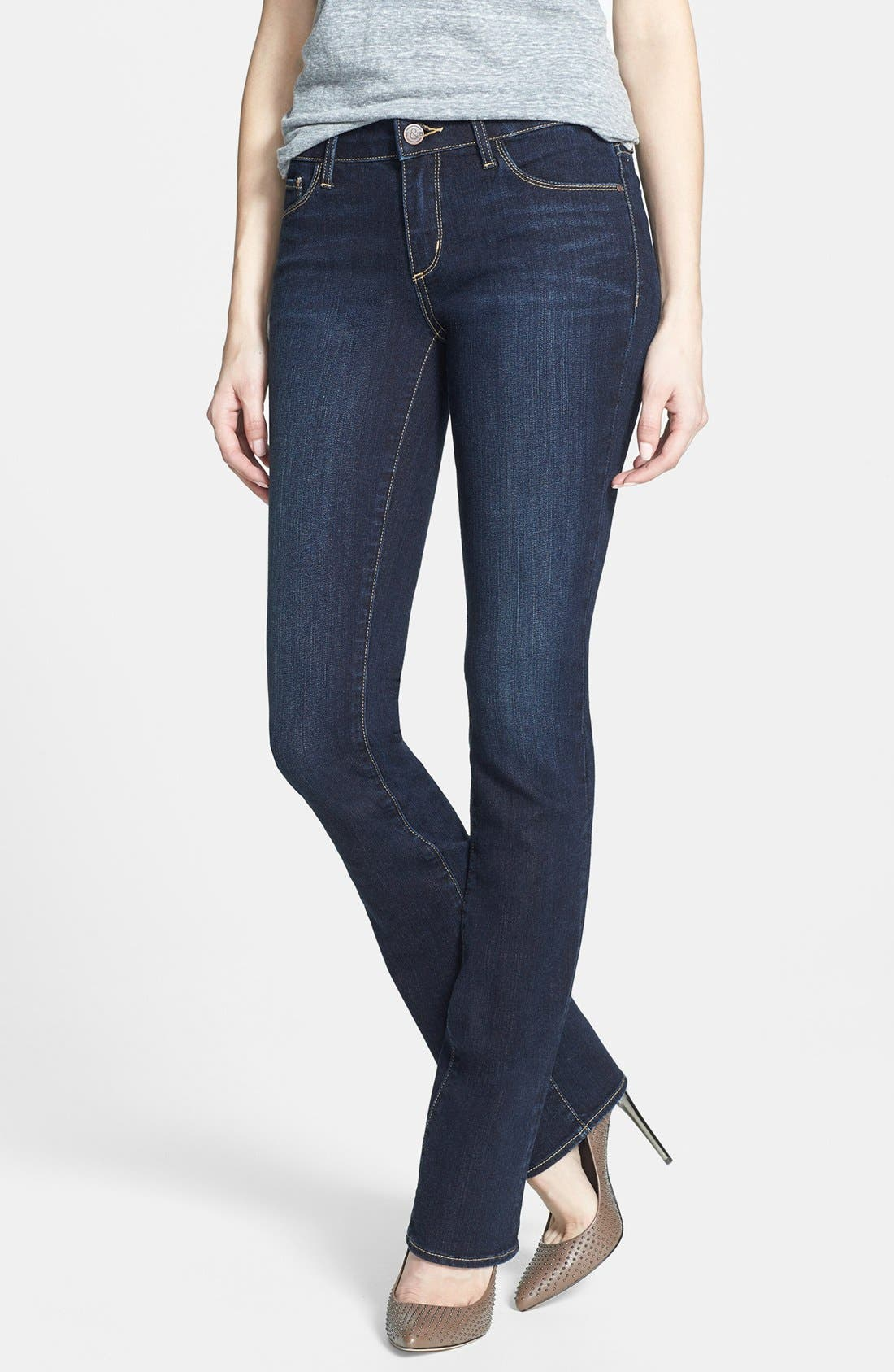 Alternate Image 1 Selected - Treasure&Bond Slim Bootcut Jeans (Dark)