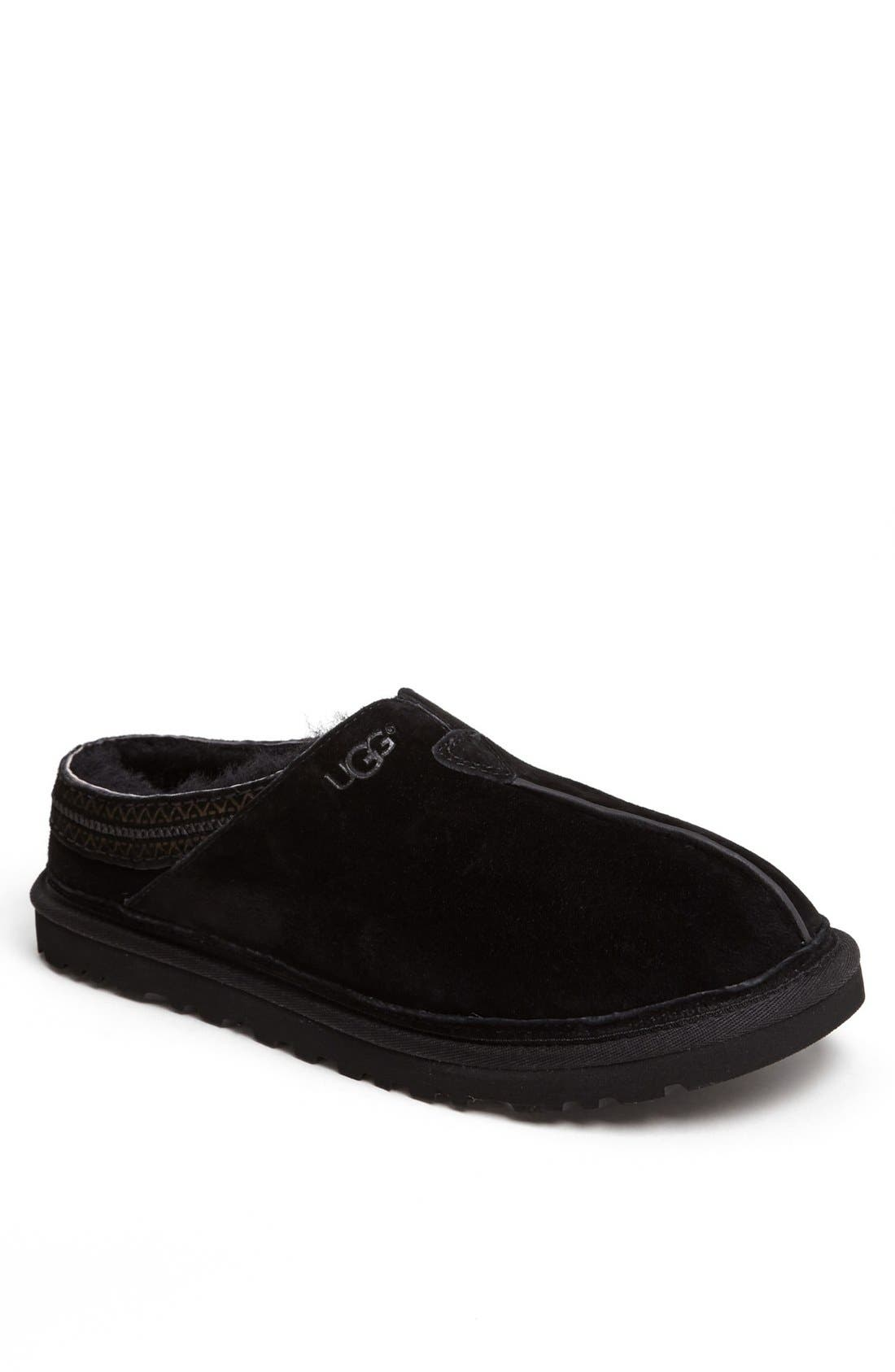 Neuman Slipper,                             Main thumbnail 1, color,                             Black