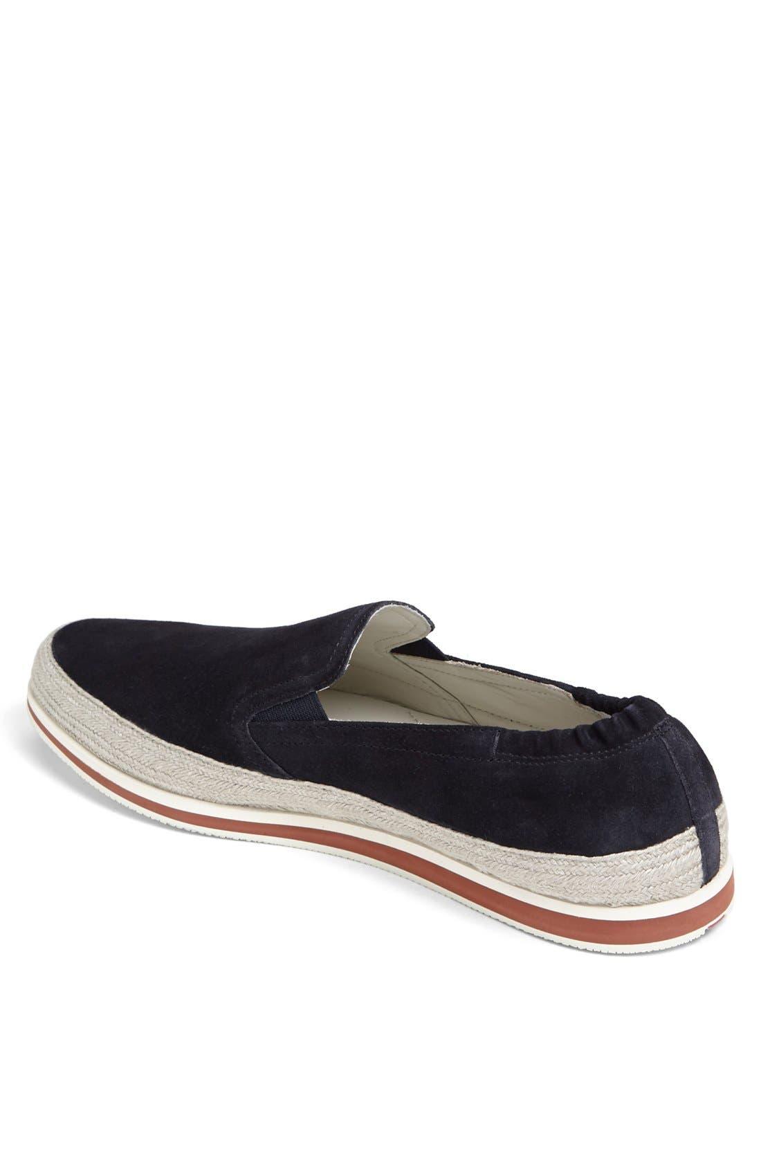 Espadrille Sneaker,                             Alternate thumbnail 2, color,                             Blue Suede