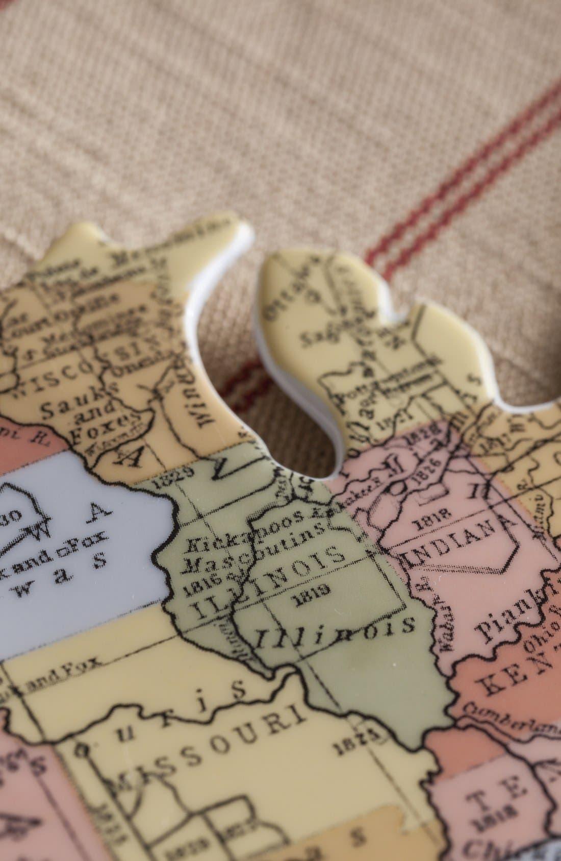 Alternate Image 3  - Rosanna 'Cartography - USA' Porcelain Tray