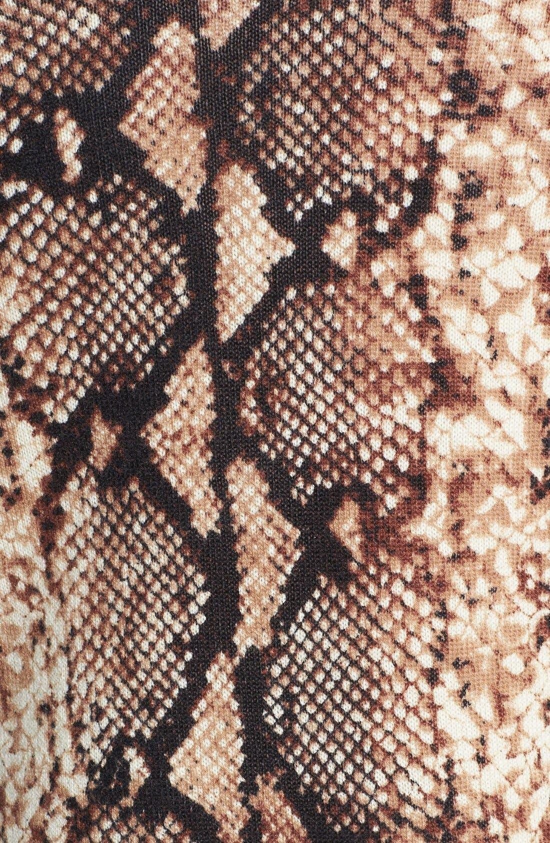 Alternate Image 3  - Sofia Cashmere Python Print Cashmere Duster