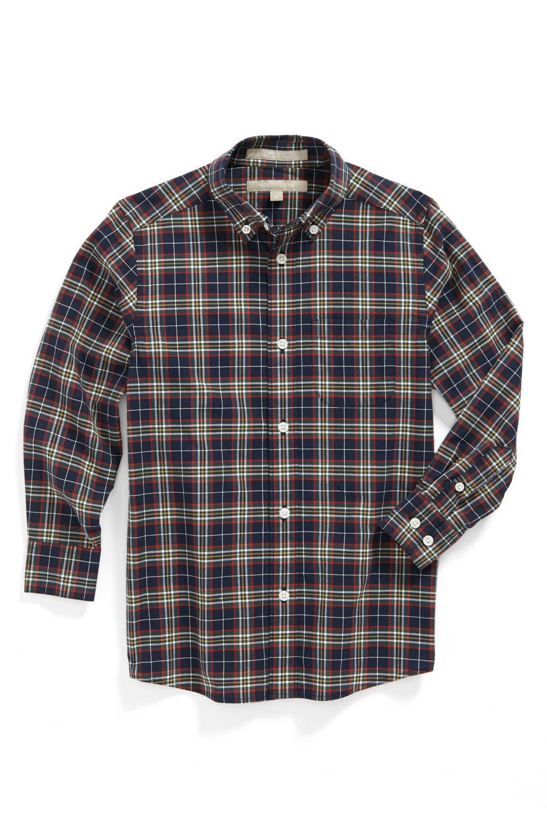 Main Image - Nordstrom Gingham Dress Shirt (Little Boys)