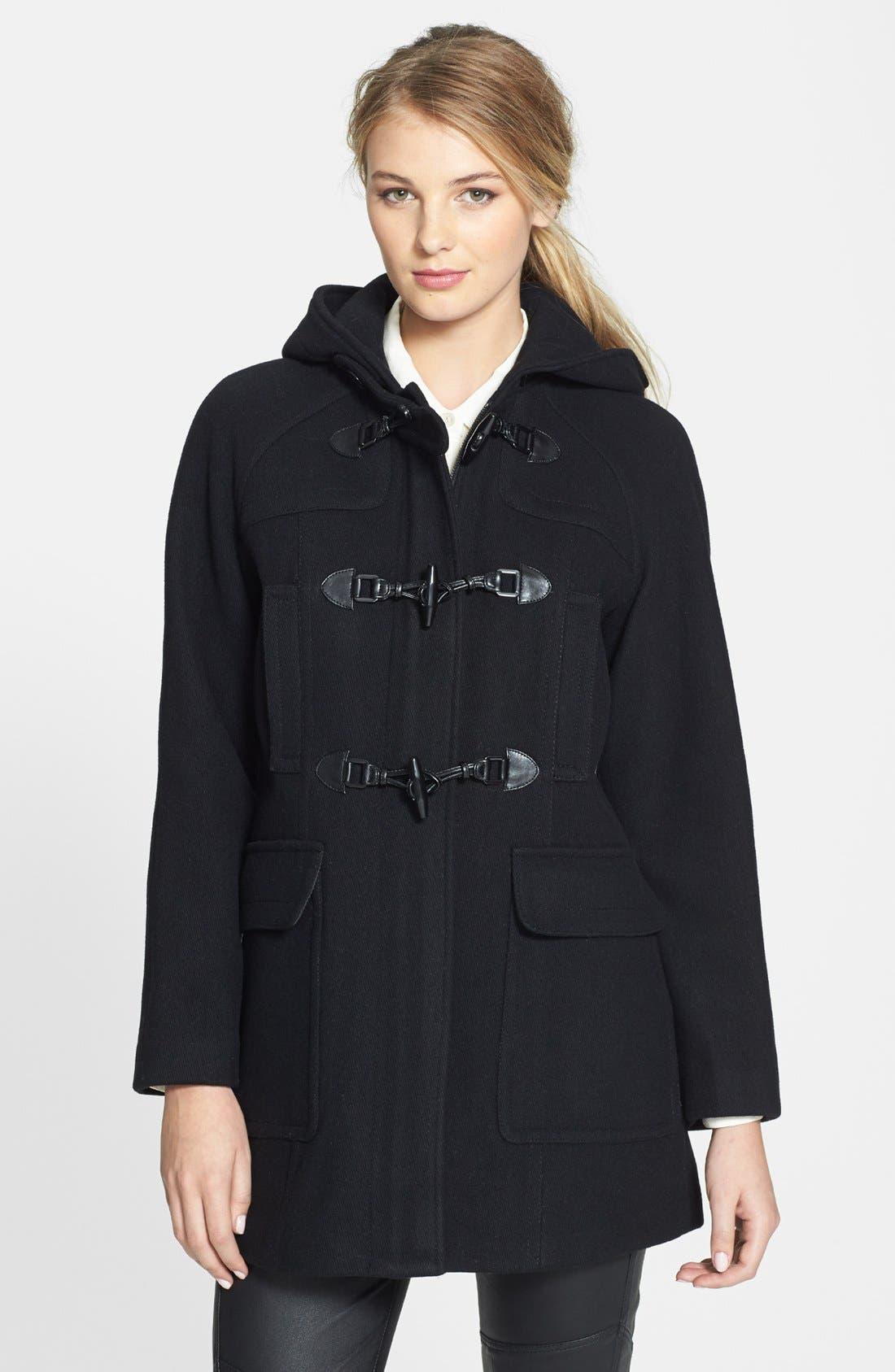 Alternate Image 1 Selected - London Fog Hooded Duffle Coat