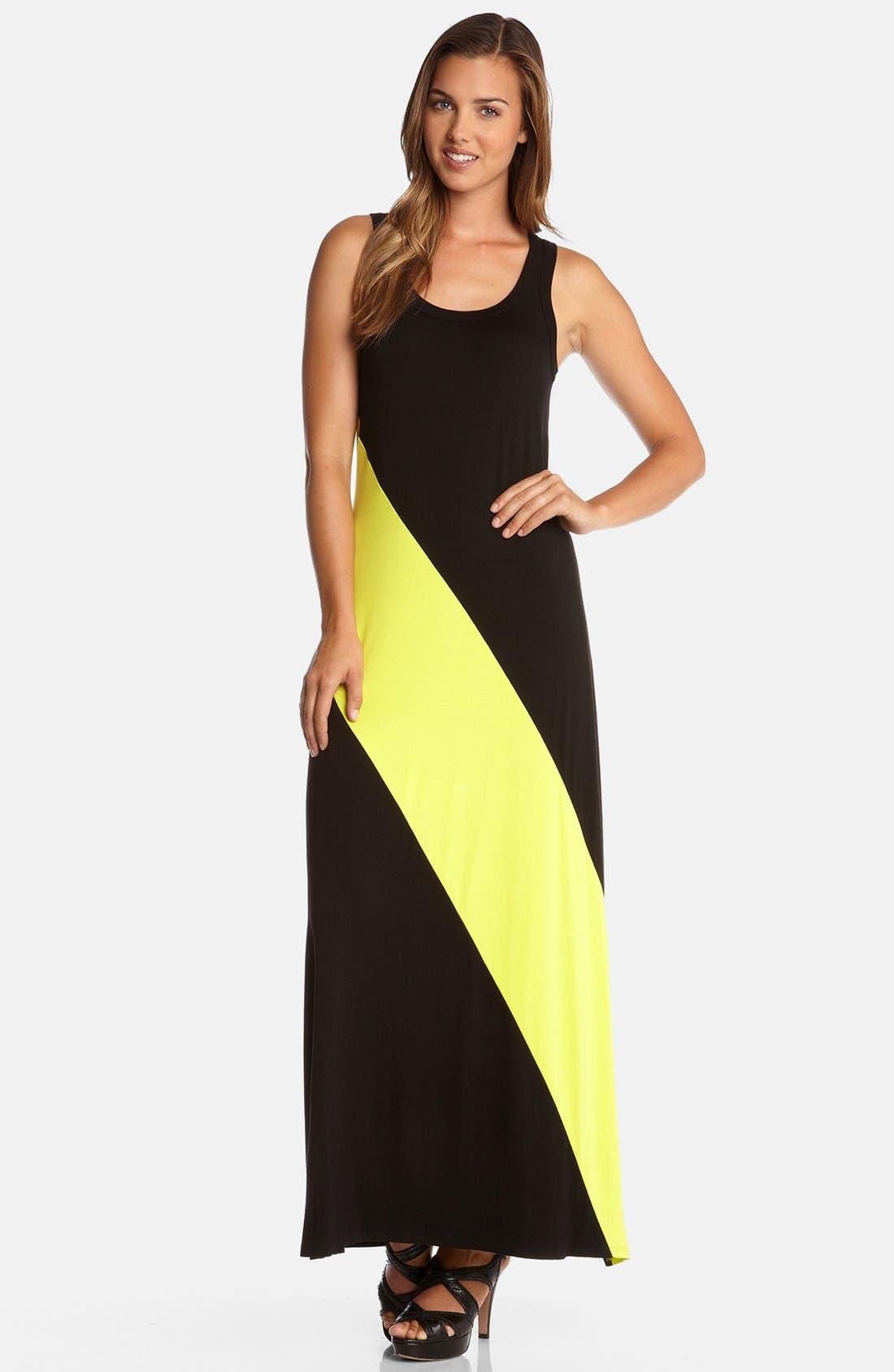 Main Image - Karen Kane Diagonal Stripe Maxi Dress