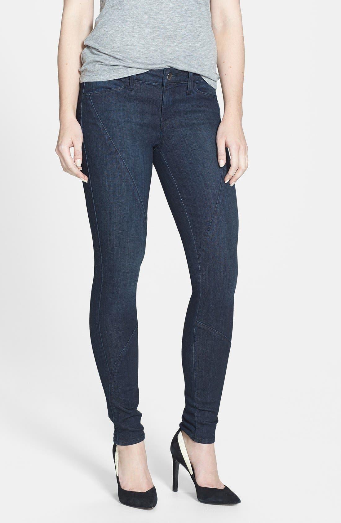 Main Image - Genetic 'Semira' Seamed Cigarette Skinny Jeans (Impulse)