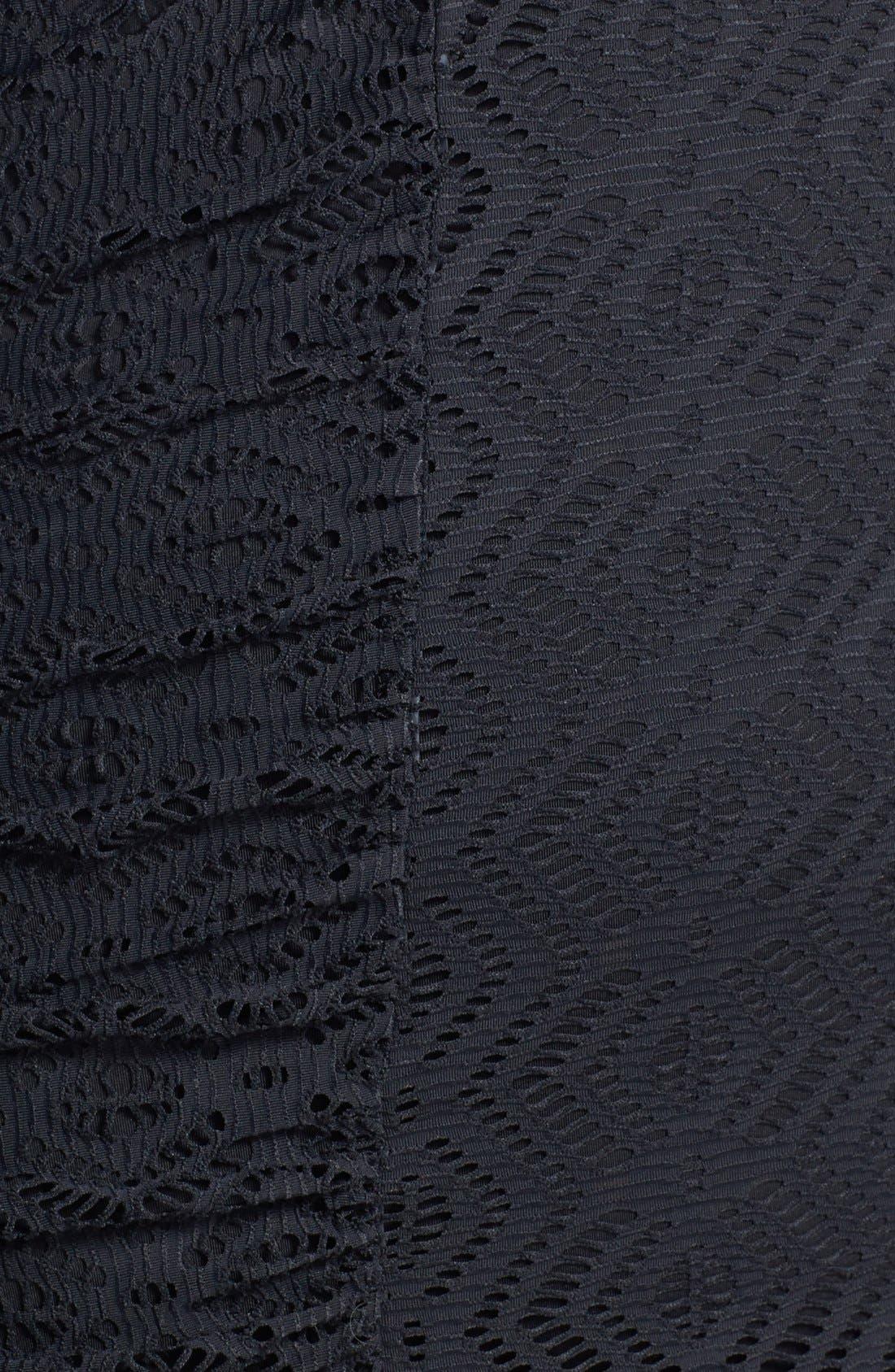 Alternate Image 3  - Becca. Etc. 'See It Through' Crochet Swimdress (Plus Size)