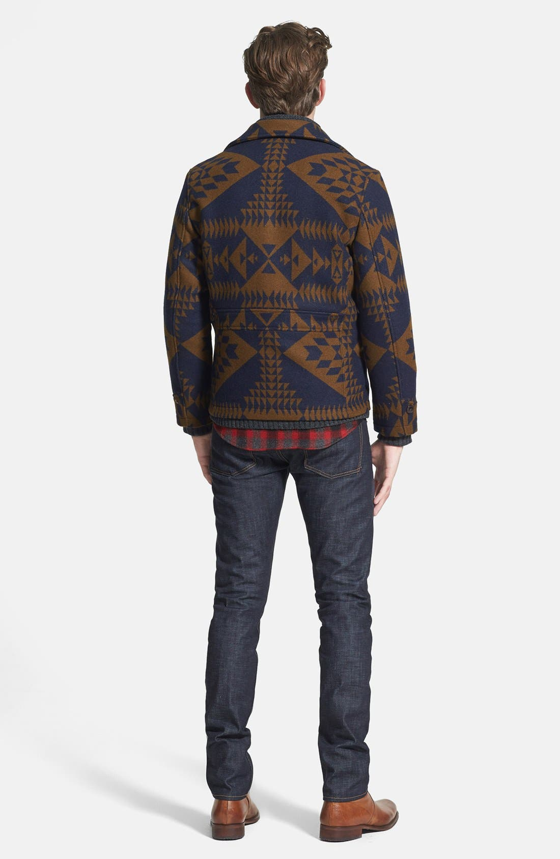 Alternate Image 3  - Pendleton Jacket, 7 Diamonds Sweater, Pendleton Fitted Flannel Shirt & J Brand Skinny Fit Jeans
