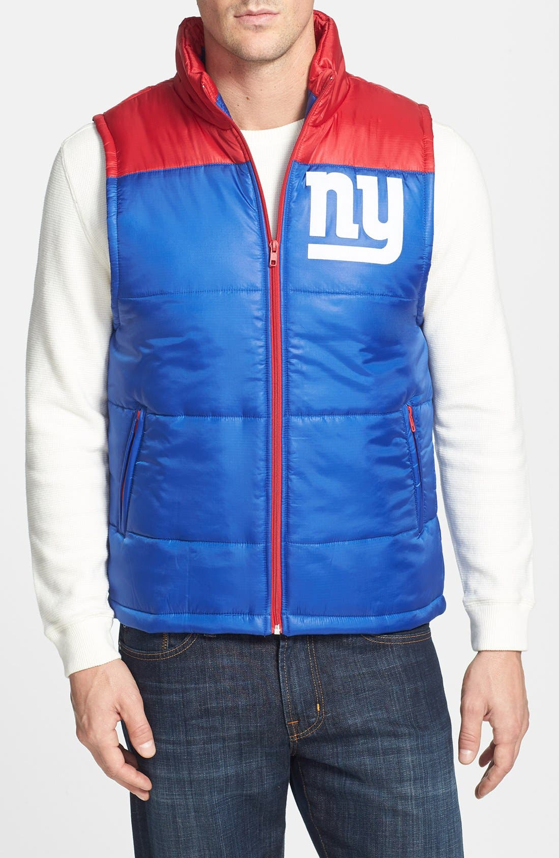 Main Image - Mitchell & Ness 'Winning Team - New York Giants' Quilted Vest