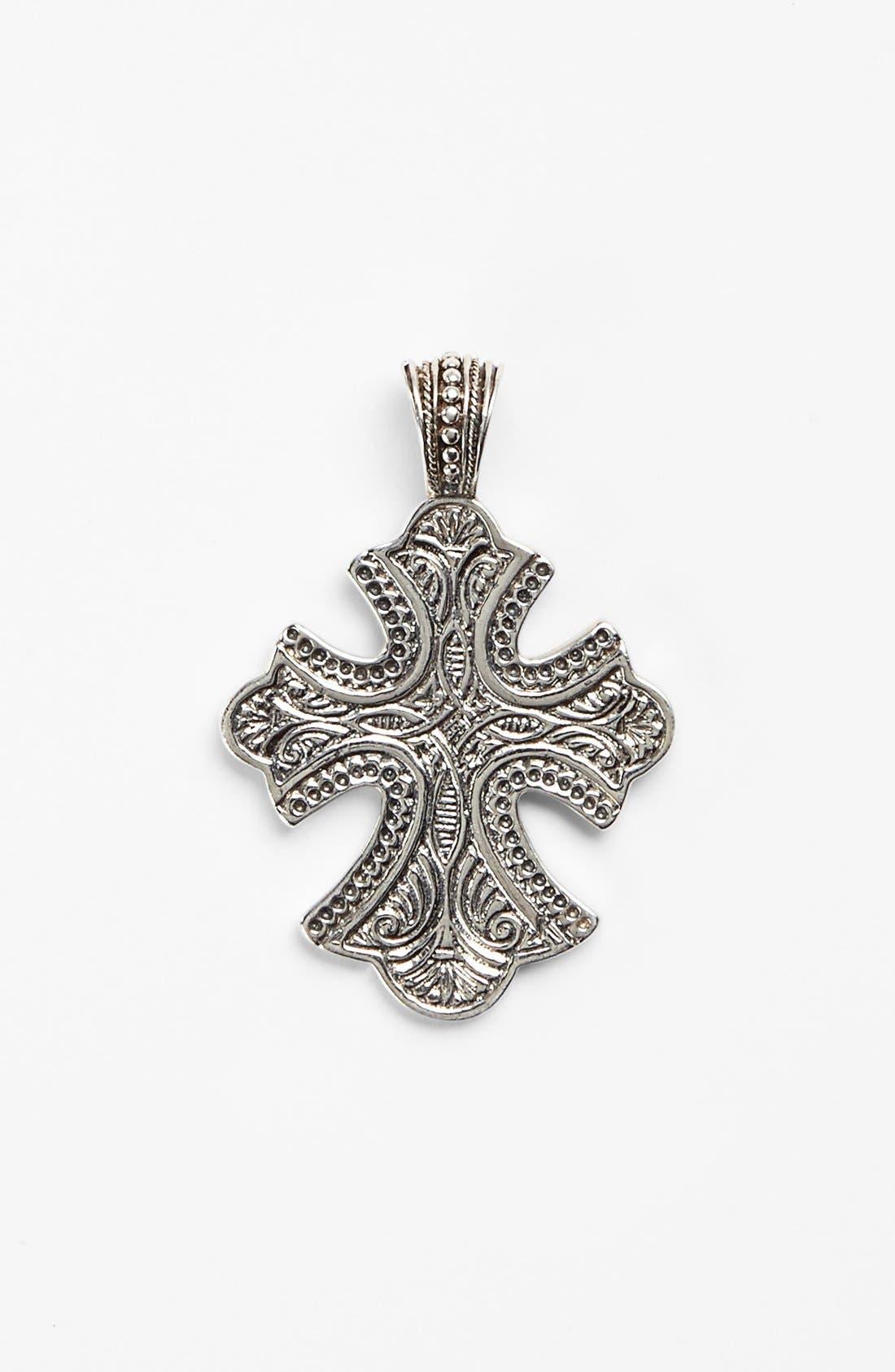'Classics' Cross Pendant Necklace,                         Main,                         color, Silver