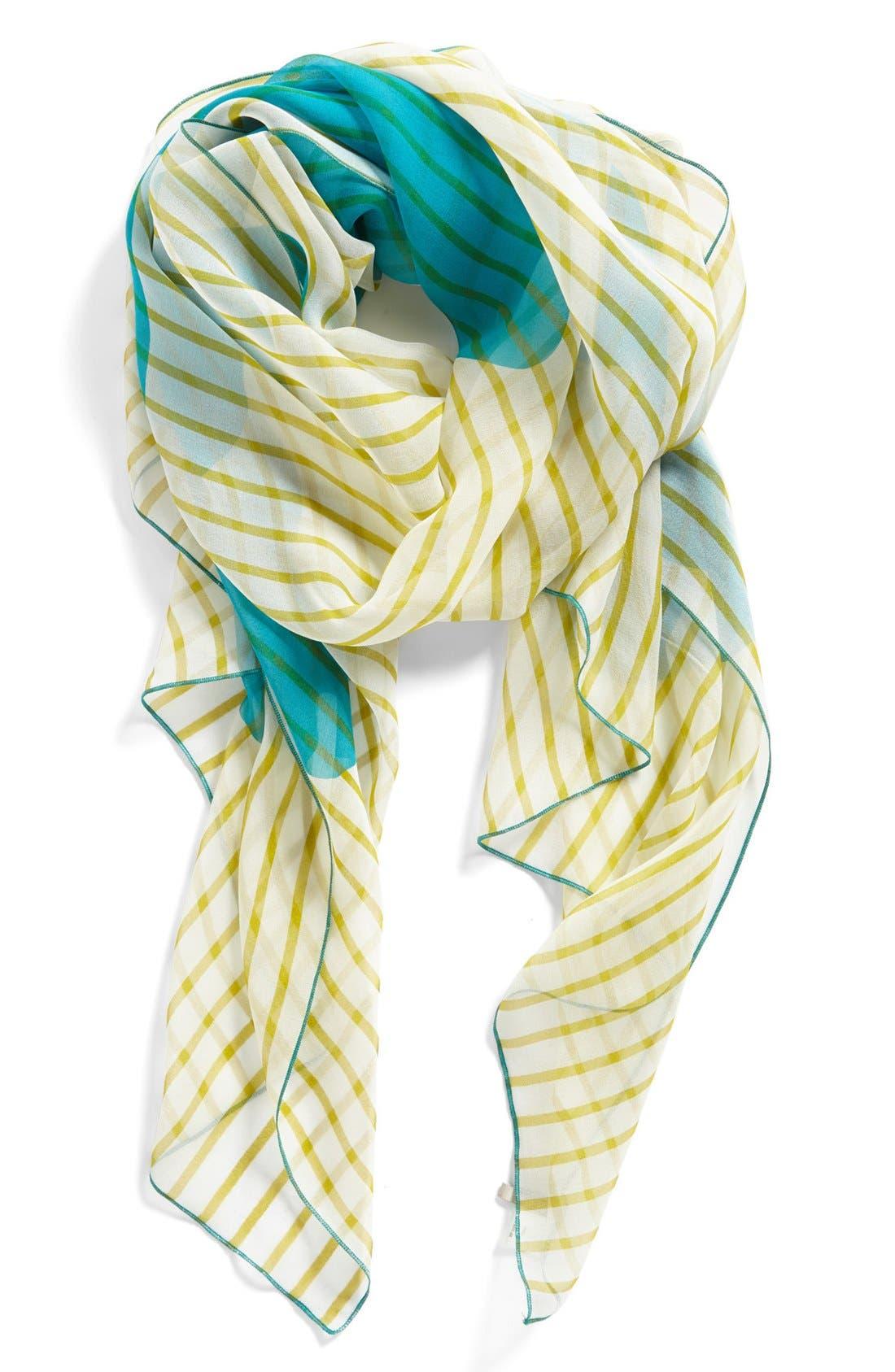Alternate Image 1 Selected - Nordstrom Floral Silk Scarf