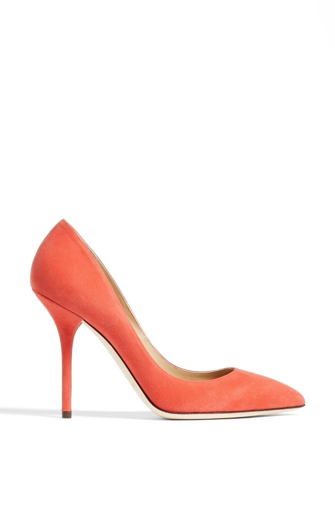 Pointy Toe Pump,                             Alternate thumbnail 4, color,                             Coral