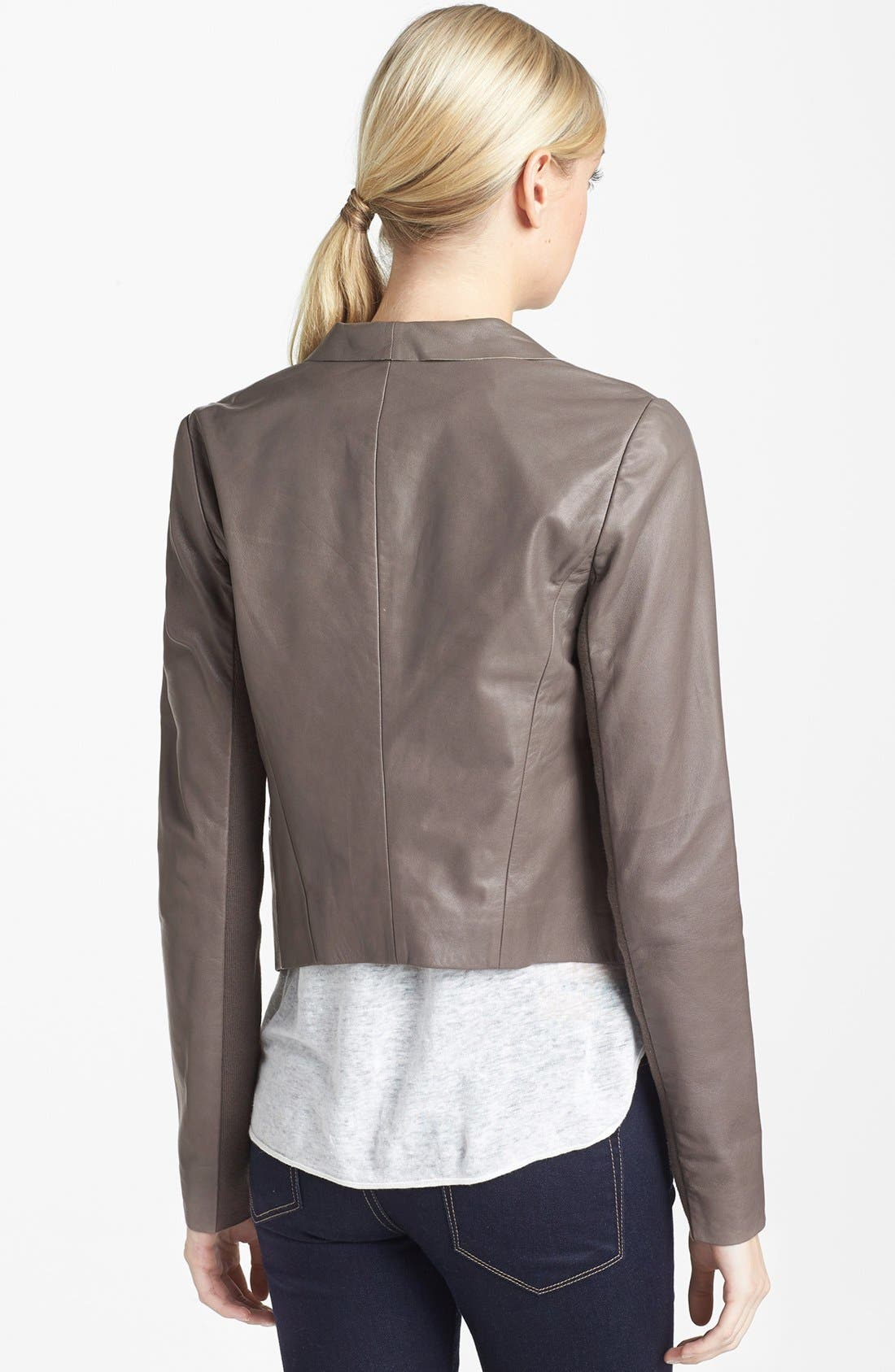 Alternate Image 2  - Trouvé Draped Leather Jacket