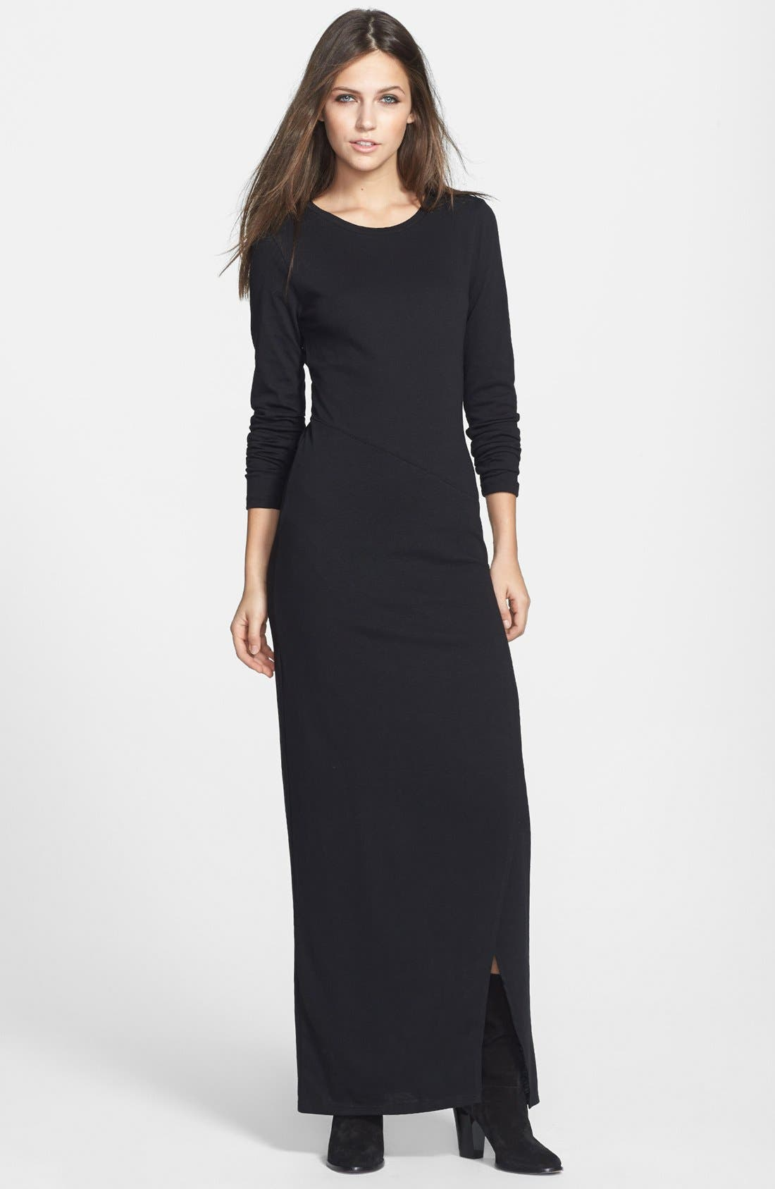 Alternate Image 1 Selected - Leith Long Sleeve Knit Maxi Dress