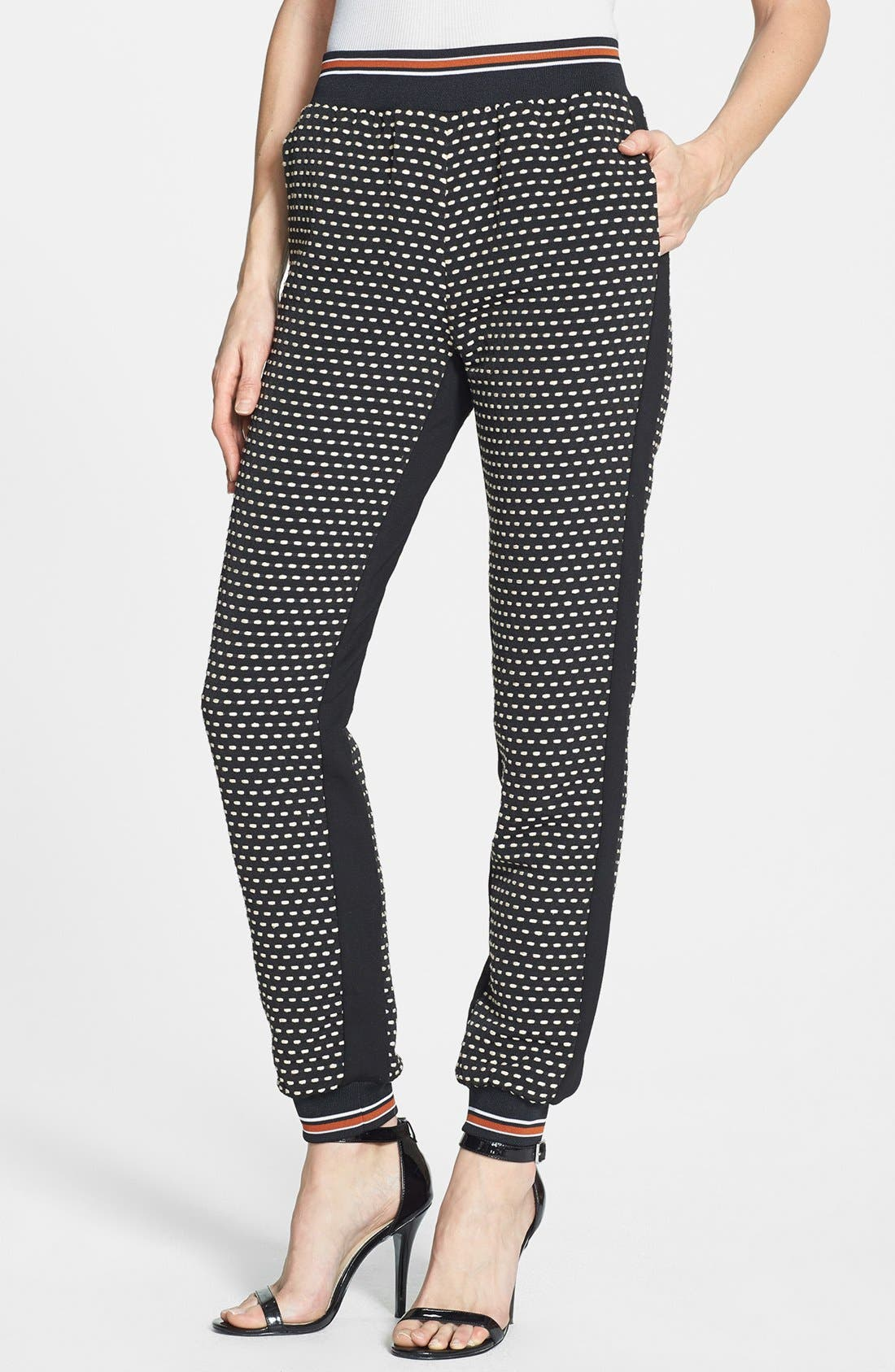 Alternate Image 1 Selected - Clover Canyon Jacquard Track Pants