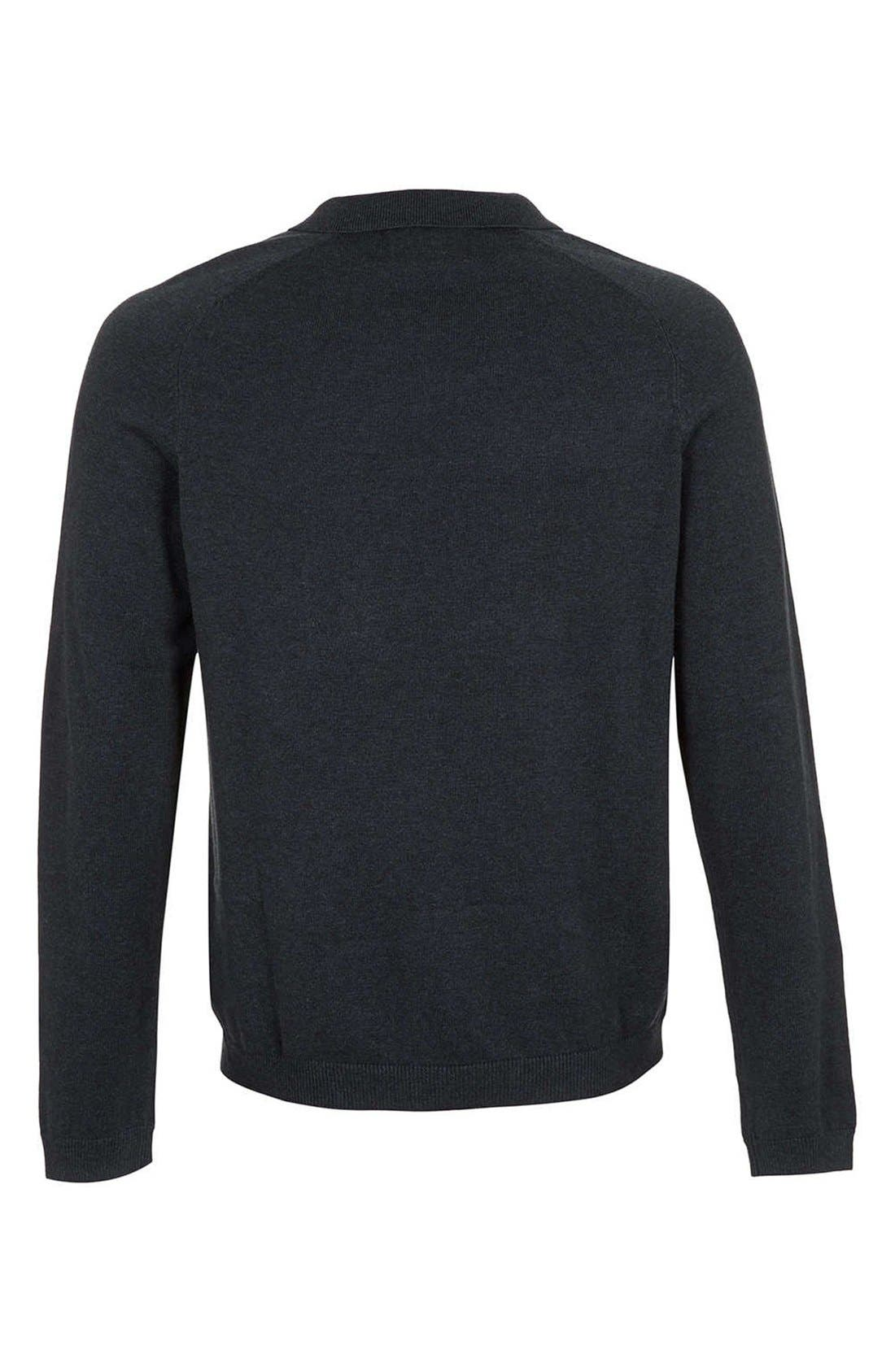 Alternate Image 2  - Topman Long Sleeve Knit Polo