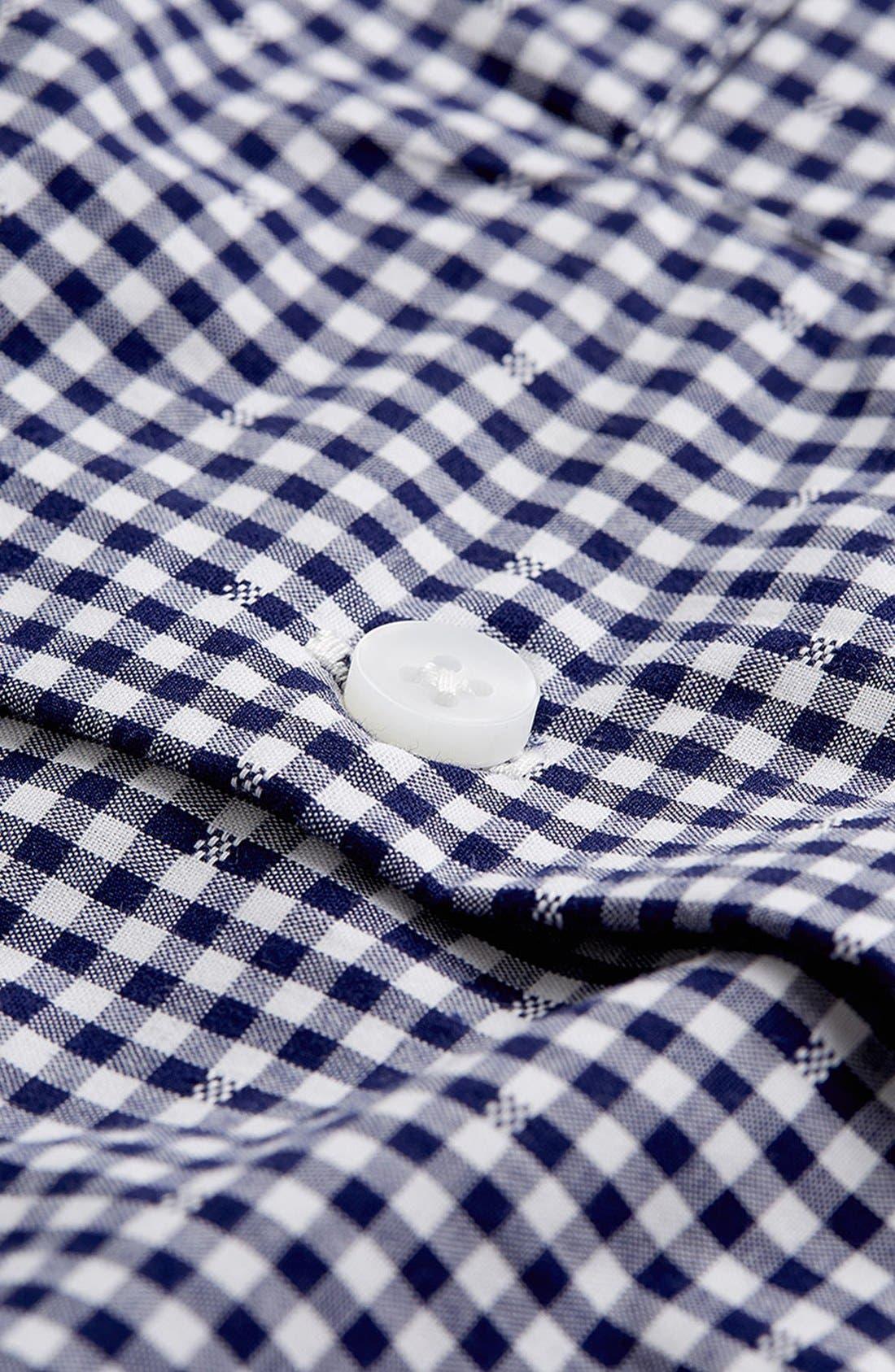 Alternate Image 3  - Topman Short Sleeve Gingham Shirt