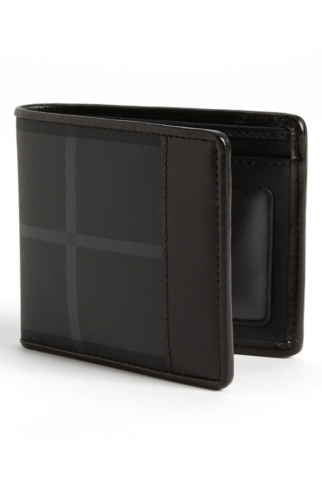 Main Image - Burberry Check Print Billfold Wallet