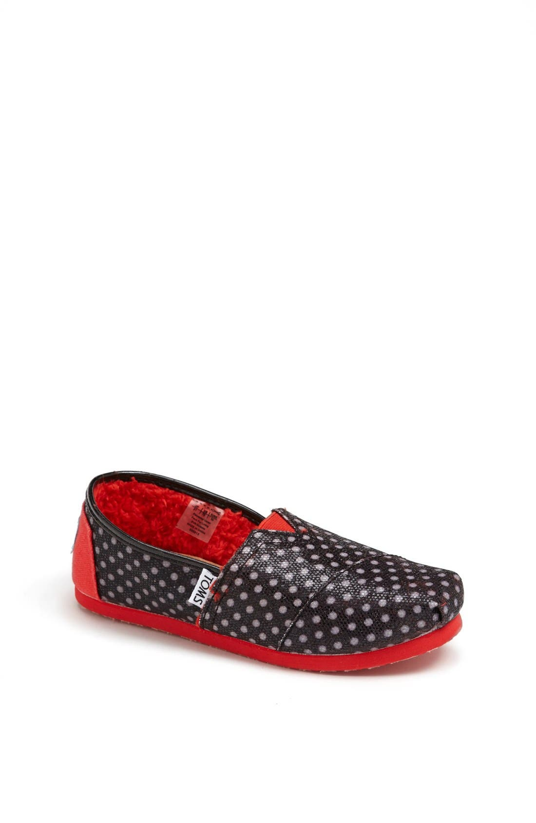 Main Image - TOMS 'Classic - Youth' Glitter Dot Slip-On (Toddler, Little Kid & Big Kid)