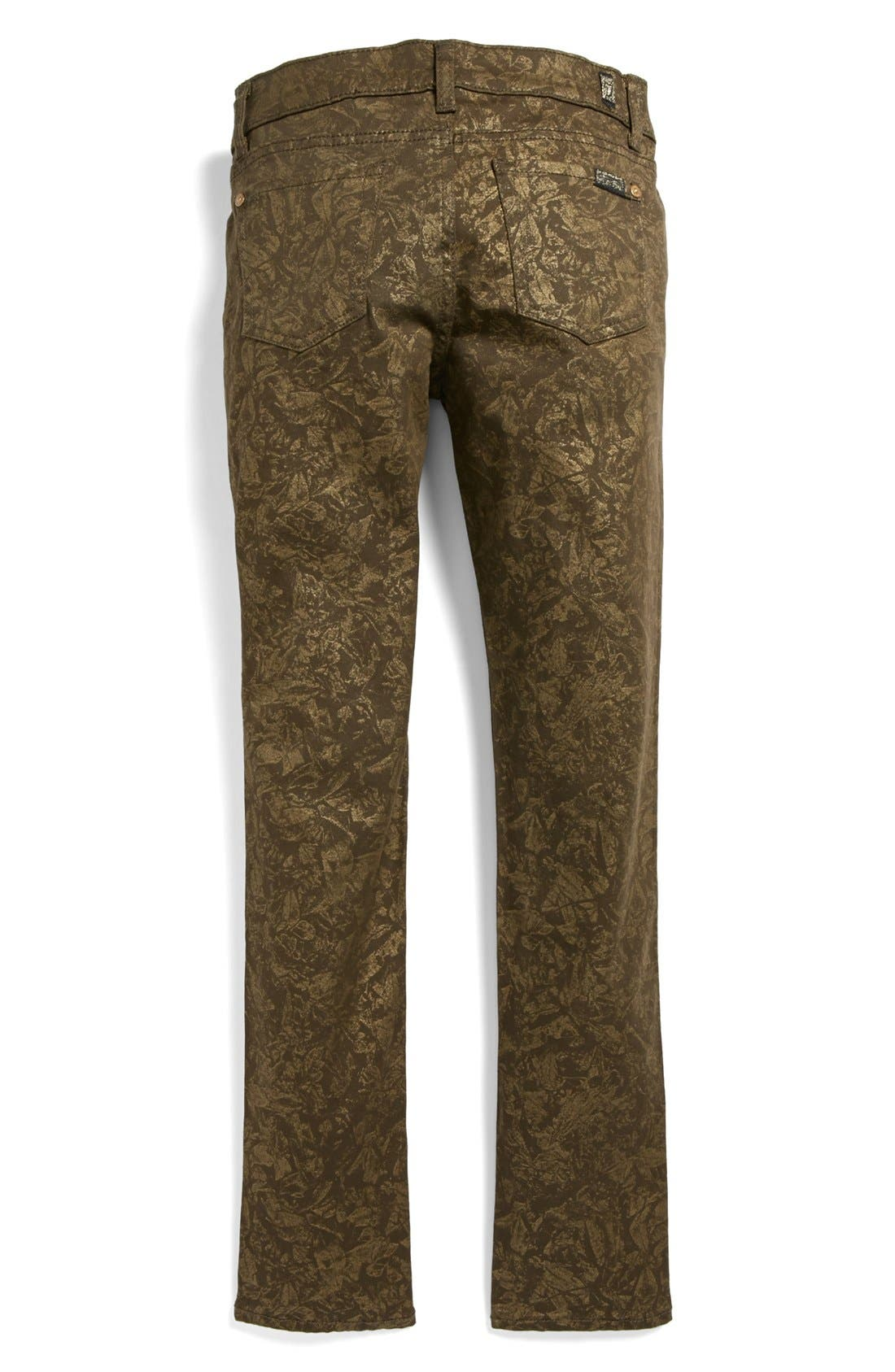 Alternate Image 1 Selected - 7 For All Mankind® 'The Skinny' Print Jeans (Big Girls)