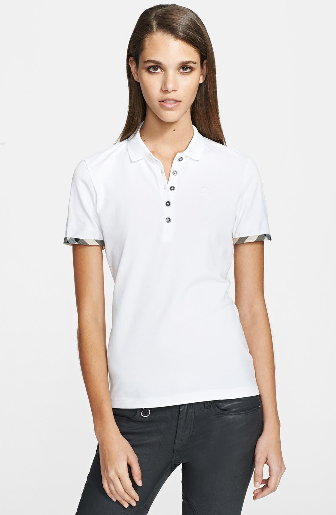 Main Image - Burberry Brit Check Cuff Polo