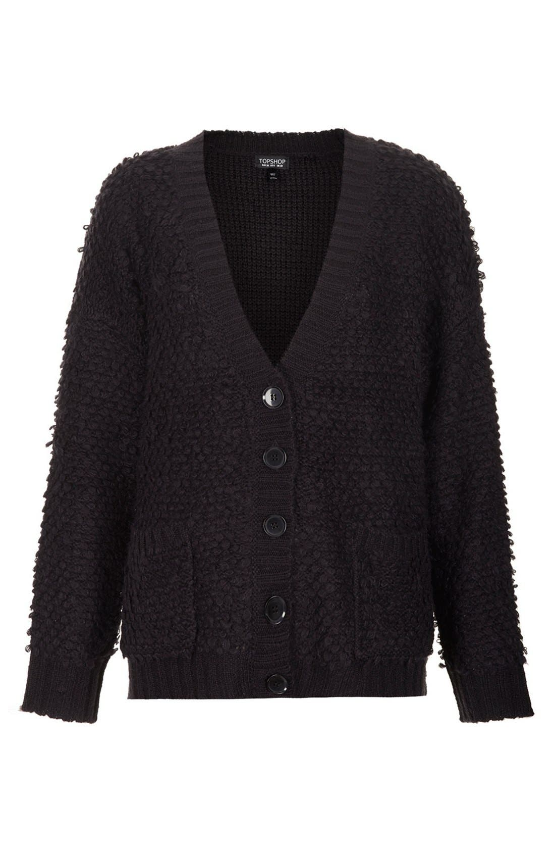 Alternate Image 3  - Topshop 'Hold Loopy' Textured Knit Cardigan