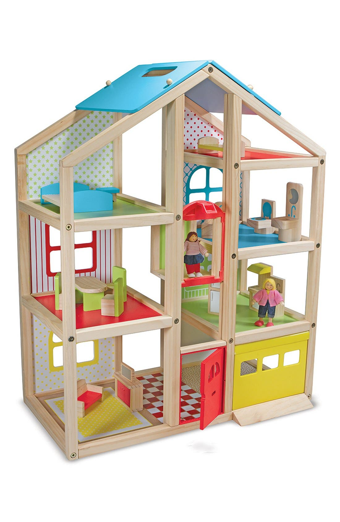 'Hi-Rise' Doll House,                             Main thumbnail 1, color,                             Red Multi