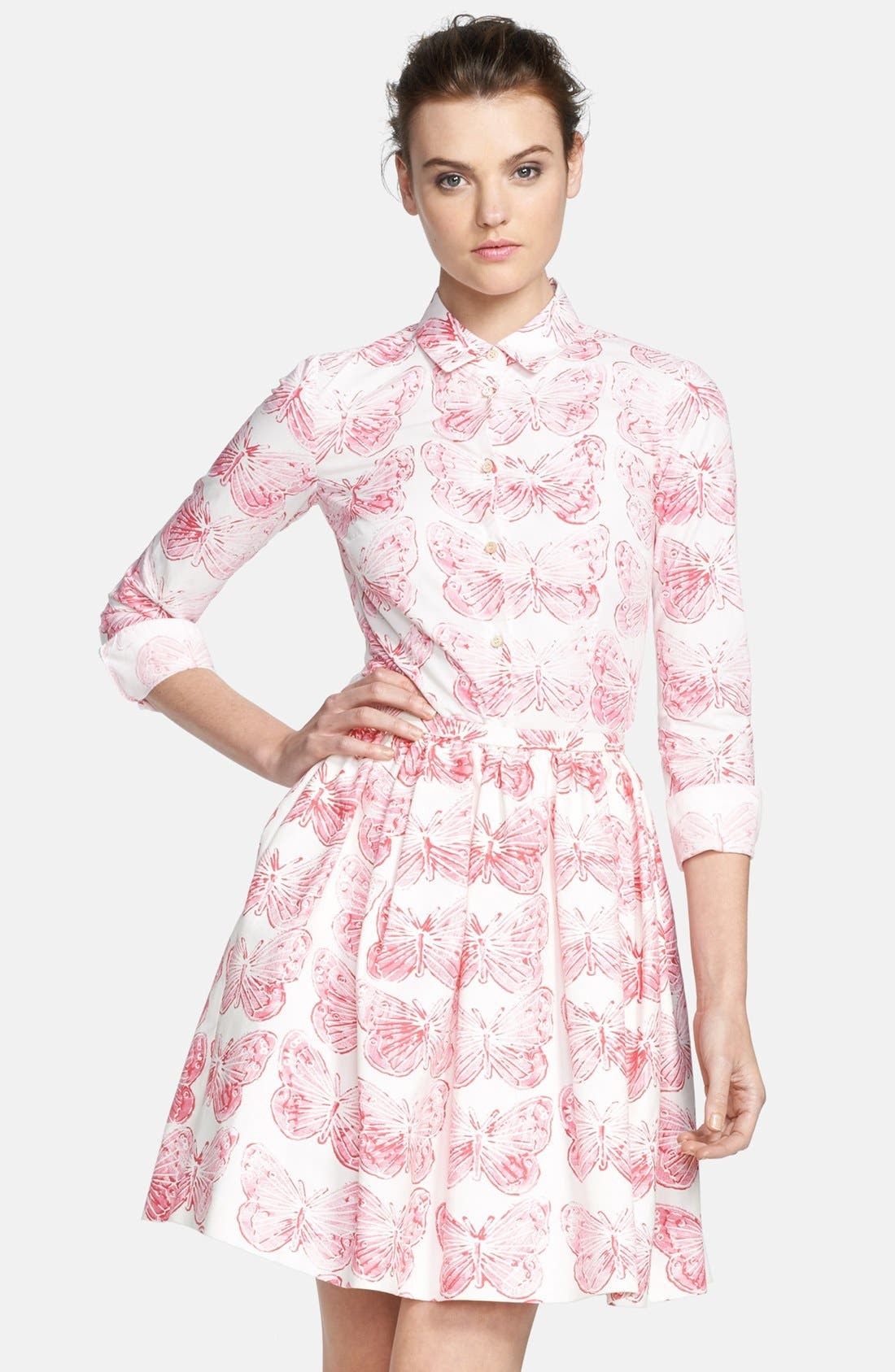 Alternate Image 1 Selected - RED Valentino Butterfly Print Cotton Blouse