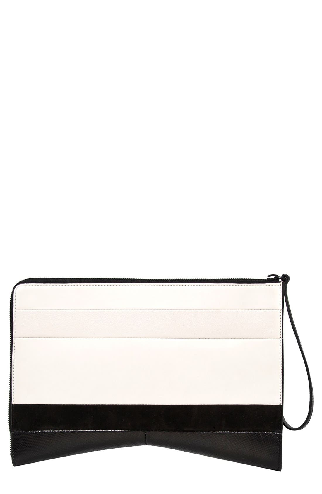 Alternate Image 1 Selected - Narciso Rodriguez Leather & Suede Clutch