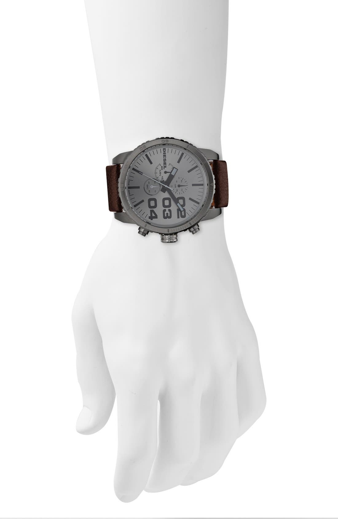 Alternate Image 4  - DIESEL® 'Double Down' Large Chronograph Watch, 51mm