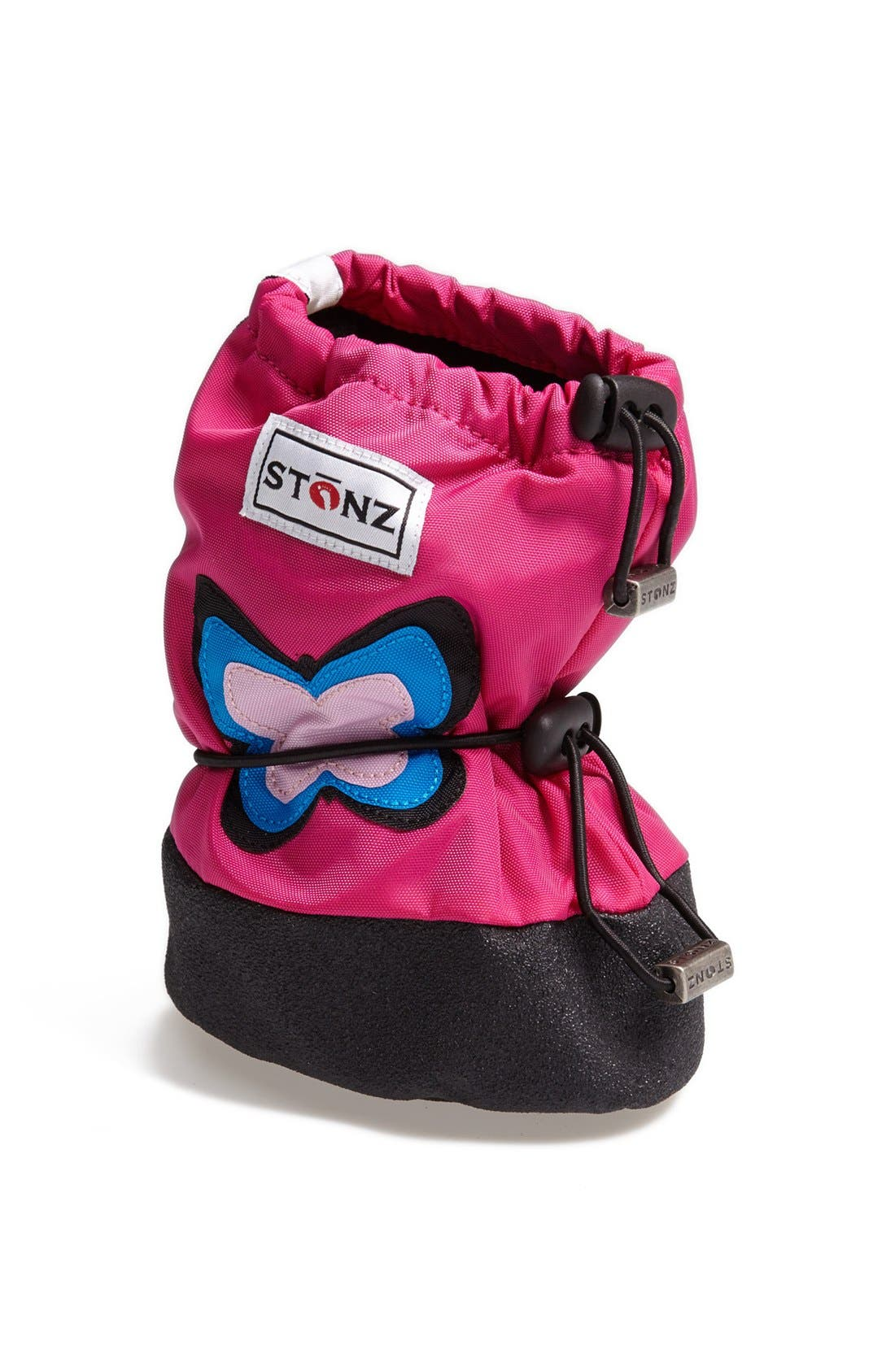 Main Image - Stonz 'Butterfly' Water Resistant Over-Shoe Bootie (Baby & Walker)