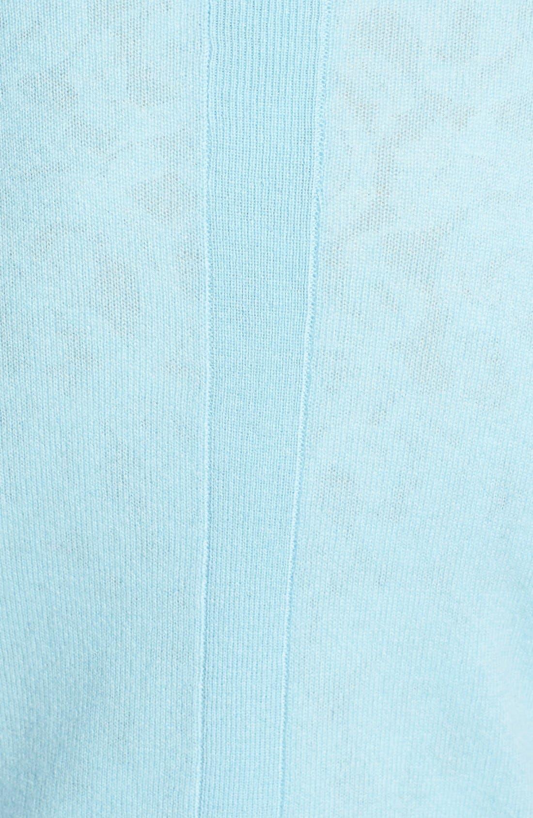 Alternate Image 3  - Halogen® Lightweight Cashmere Crewneck Sweater with Pocket