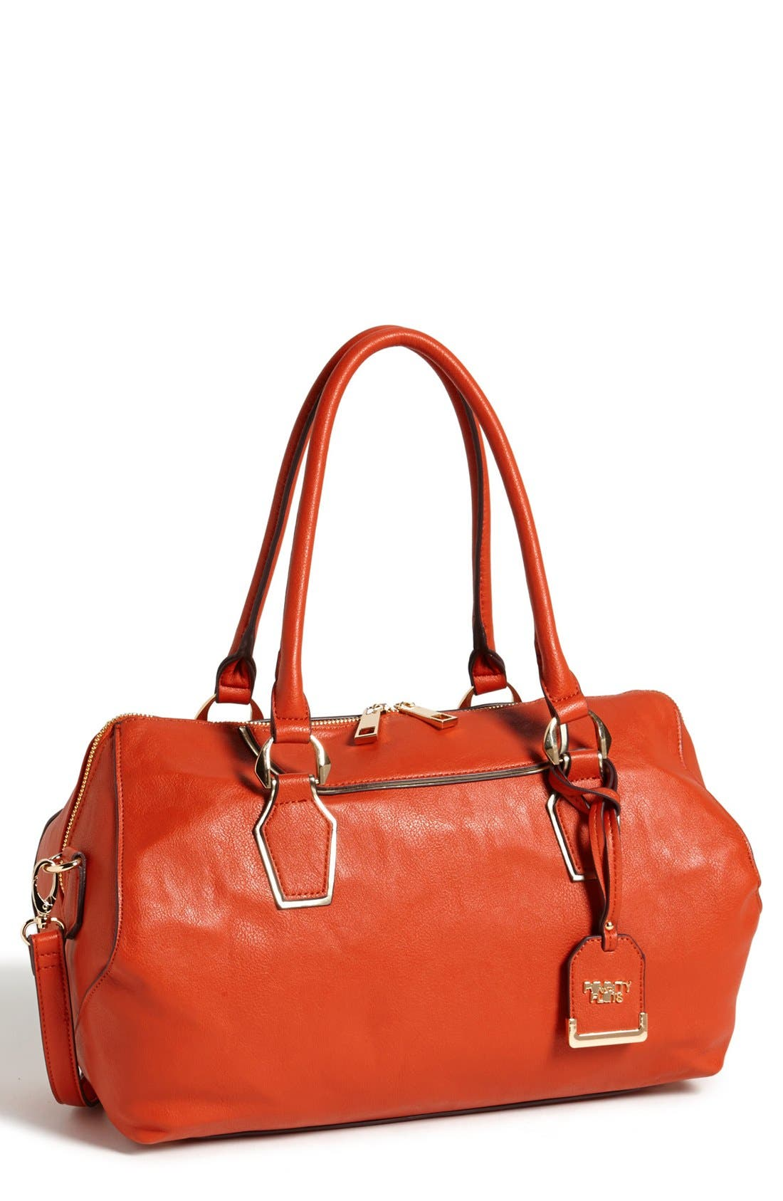 Alternate Image 1 Selected - POVERTY FLATS by rian Faux Leather Satchel