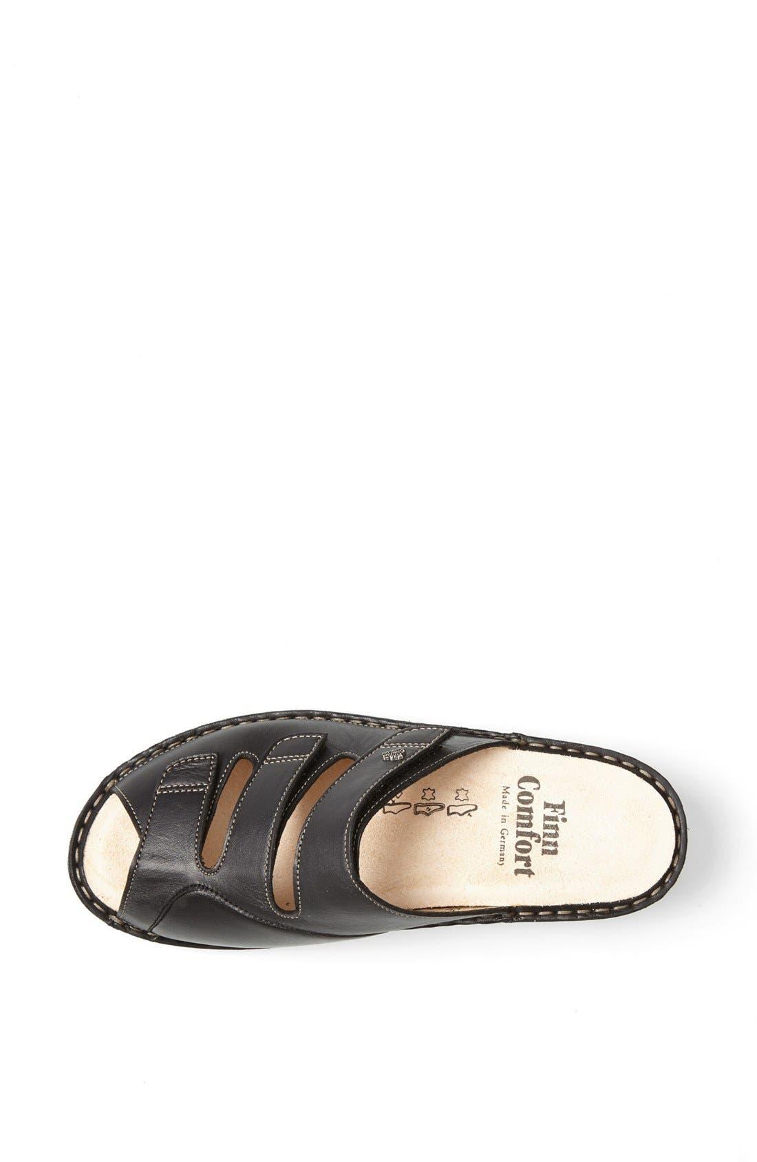 'Tilburg' Leather Sandal,                             Alternate thumbnail 3, color,                             Black