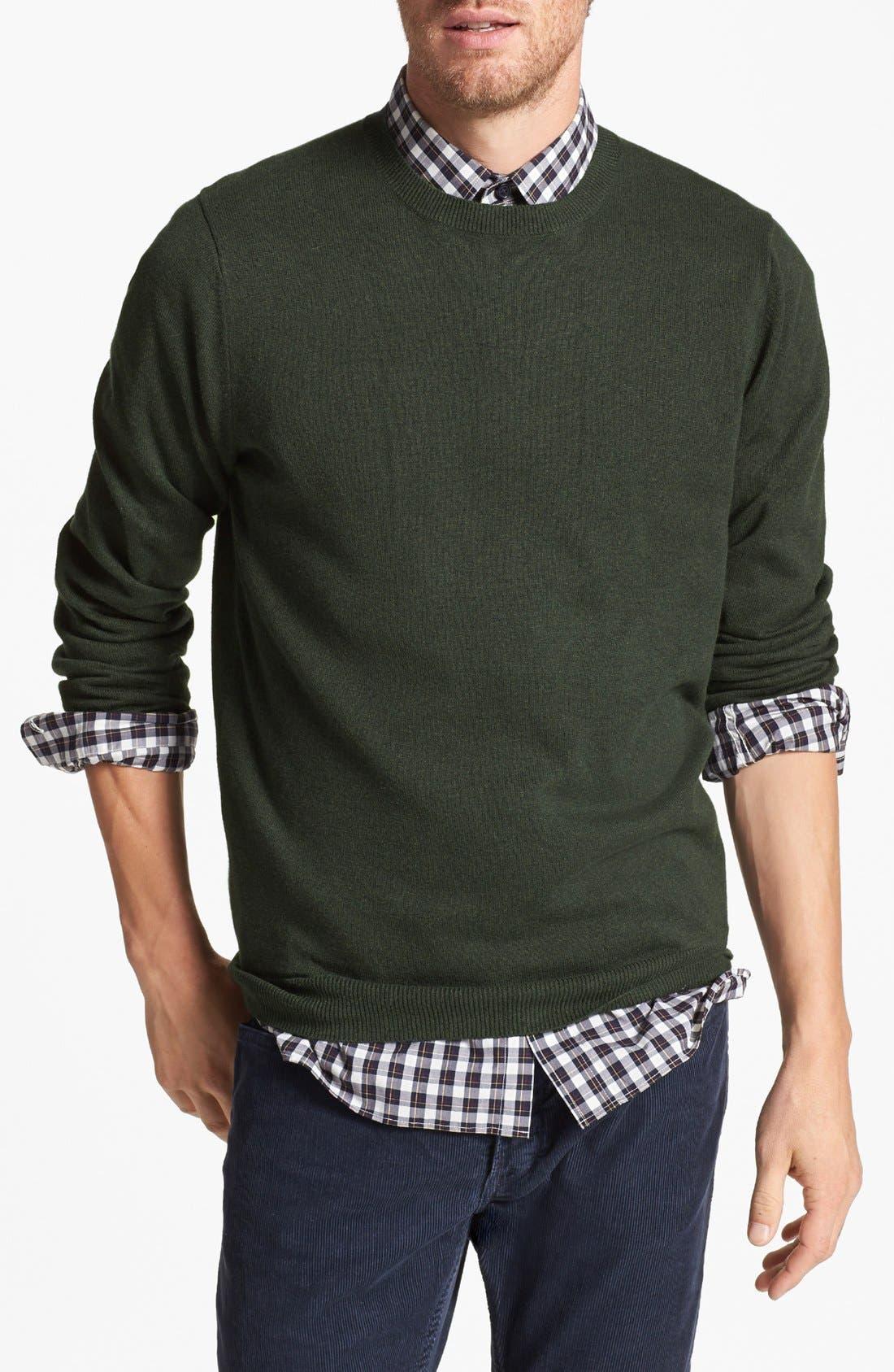 Alternate Image 1 Selected - Wallin & Bros. Trim Fit Cotton & Cashmere Crewneck Sweater