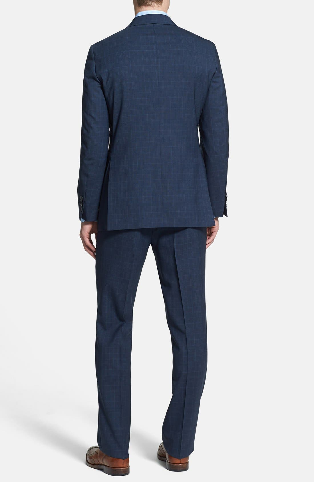 Alternate Image 2  - Samuelsohn Classic Fit Plaid Suit