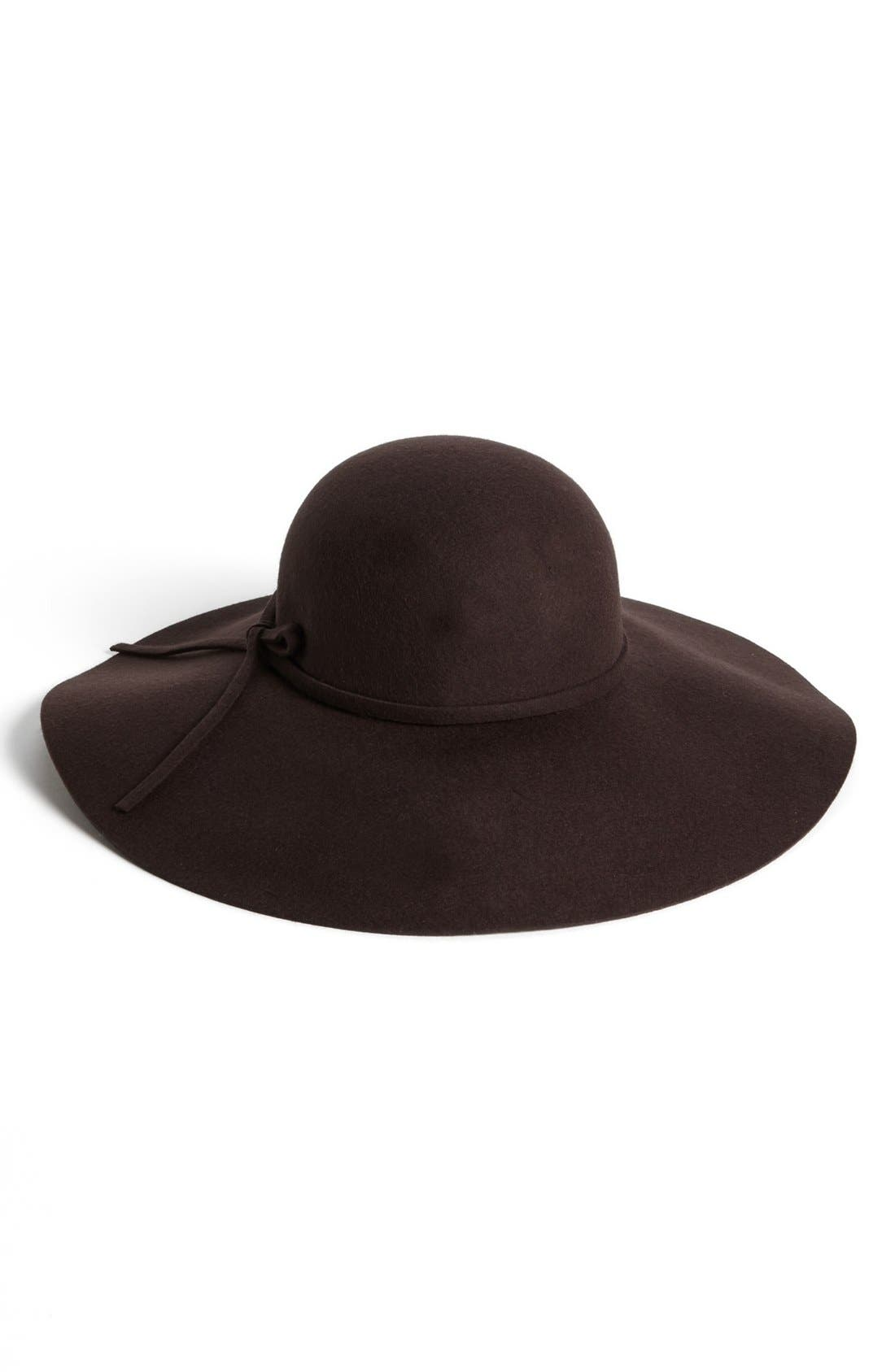 Alternate Image 1 Selected - David & Young Floppy Felt Hat (Juniors) (Online Only)