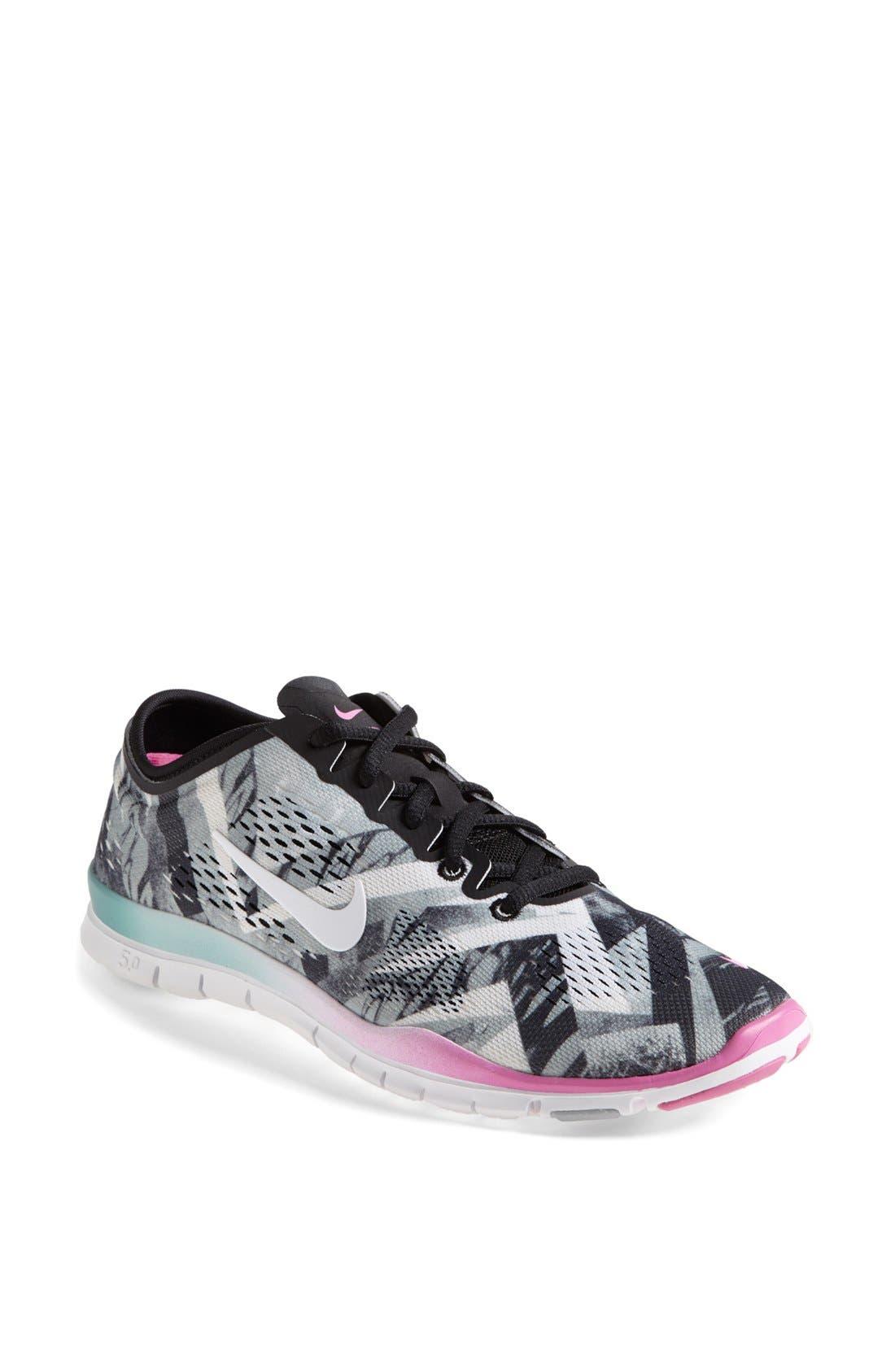 Main Image - Nike 'Free 5.0 TR Fit 4' Print Training Shoe (Women