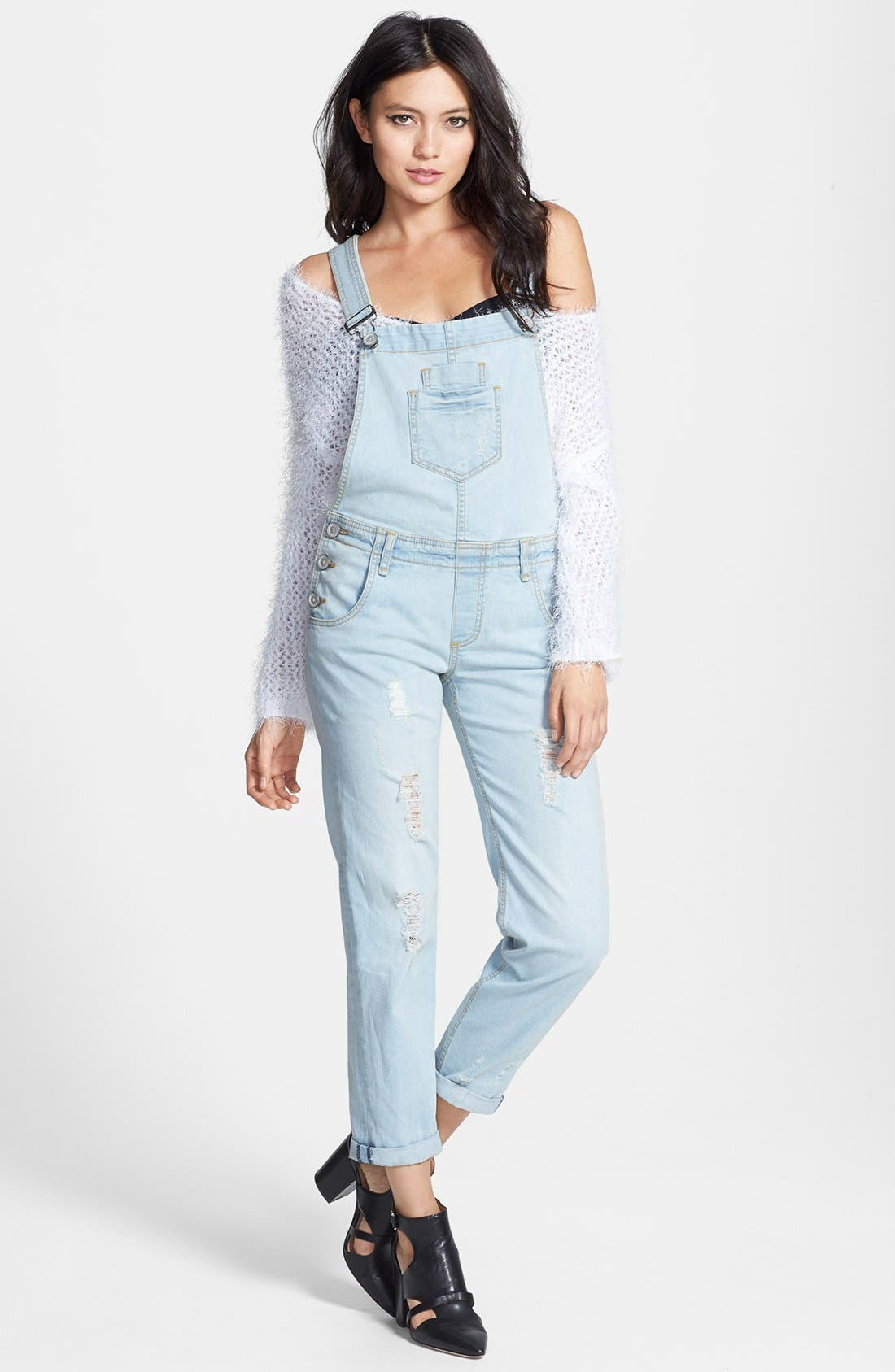 Alternate Image 1 Selected - edyson Destroyed Overalls