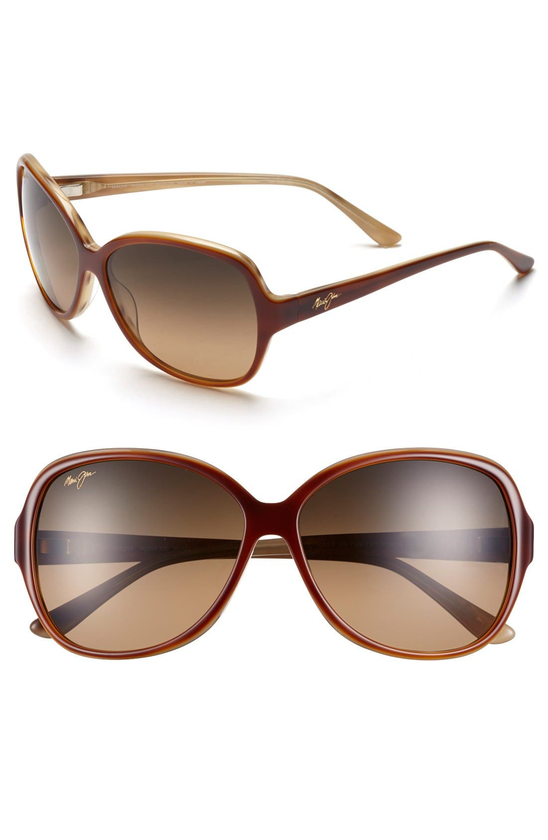 Maile 60mm PolarizedPlus<sup>®</sup> Sunglasses,                         Main,                         color, Tortoise/ Ivory