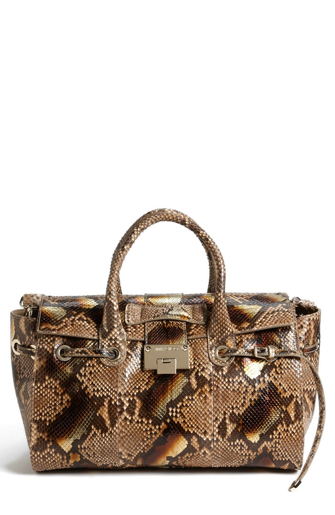 Alternate Image 1 Selected - Jimmy Choo 'Rosa' Metallic Dégradé Genuine Python Satchel