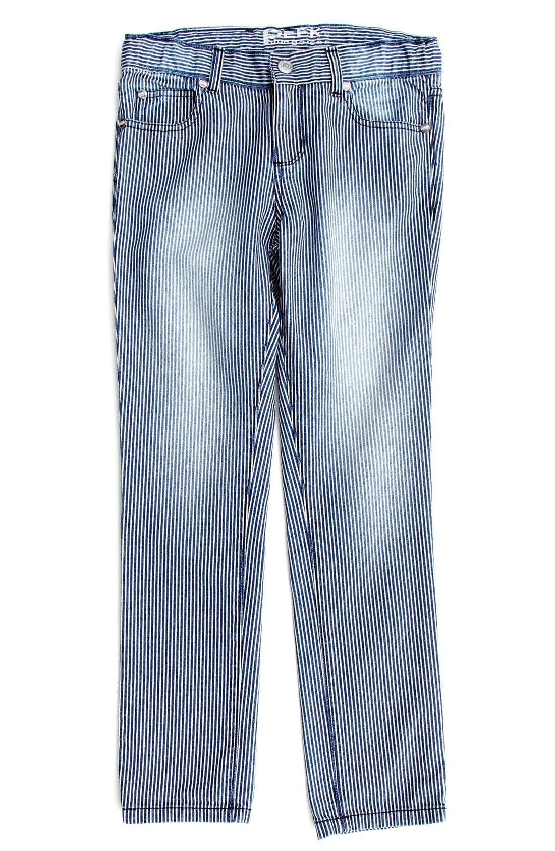 Alternate Image 2  - Peek 'Margot' Railroad Stripe Skinny Jeans (Toddler Girls, Little Girls & Big Girls)