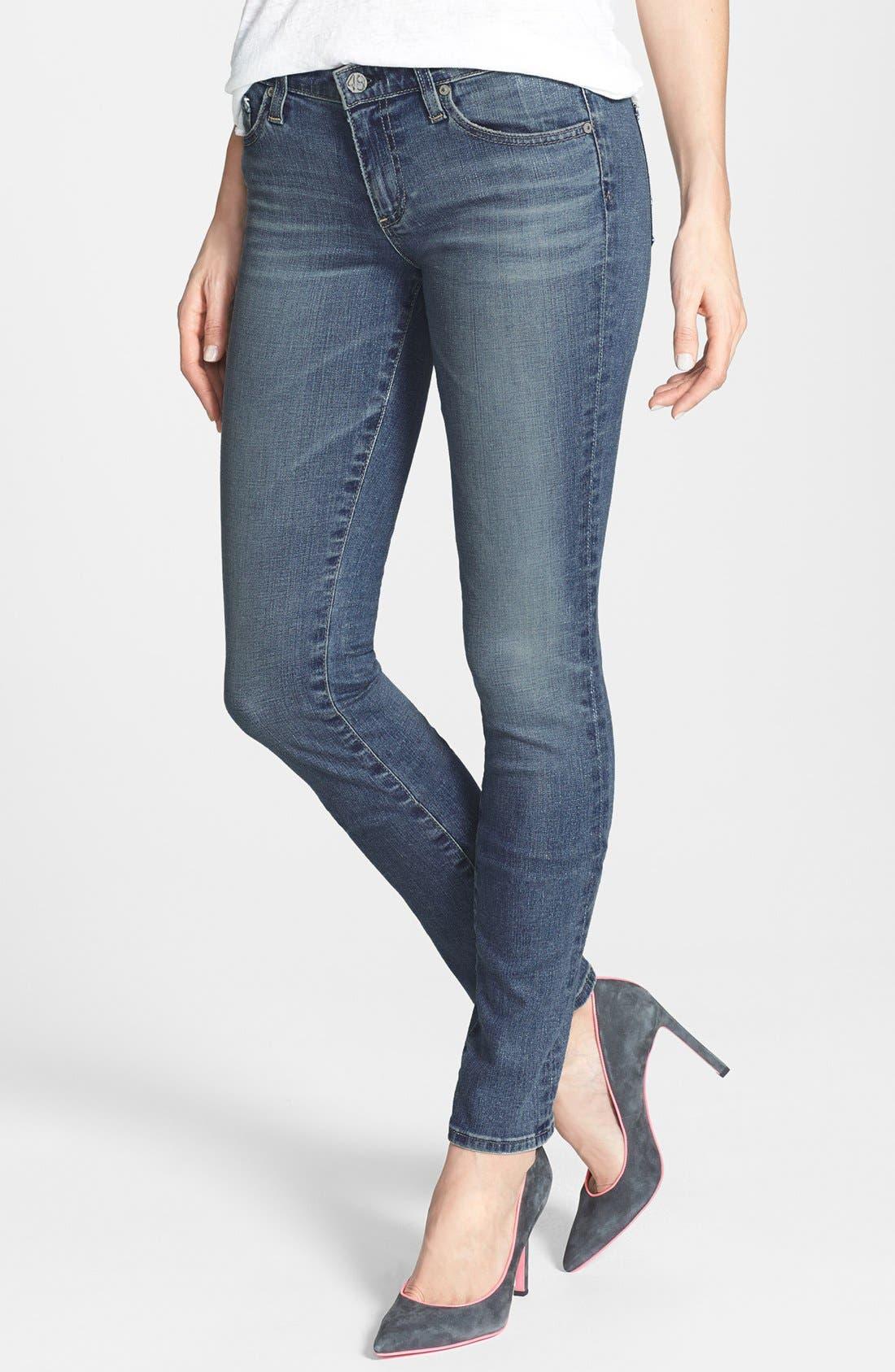 Alternate Image 1 Selected - AG 'Aubrey' Skinny Straight Leg Jeans (Eighteenth Year)