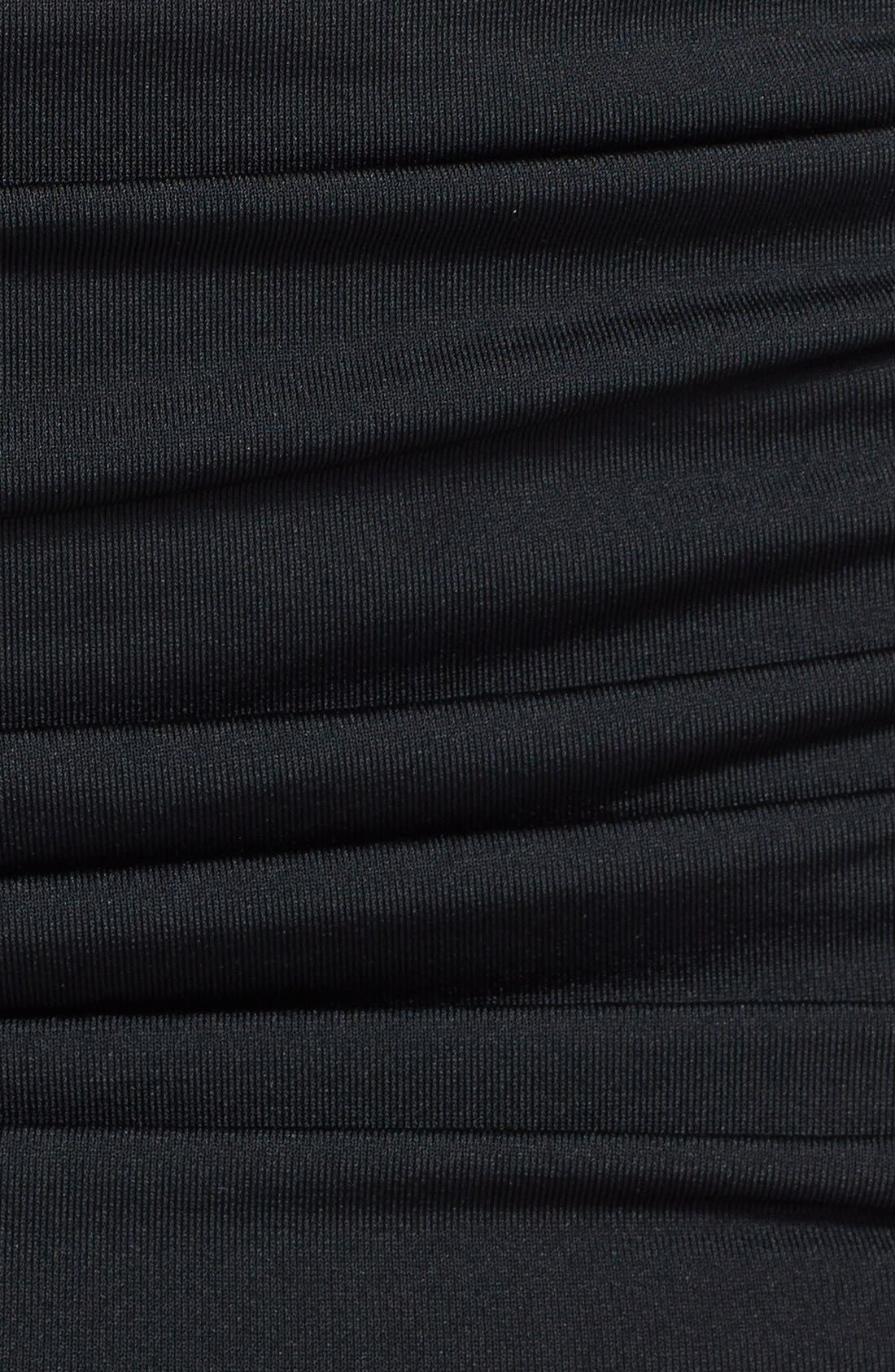Carmen Marc Valvo 'Cape Town Beach' Shirred Skirted Bikini Bottoms,                             Alternate thumbnail 5, color,                             Luxe Black
