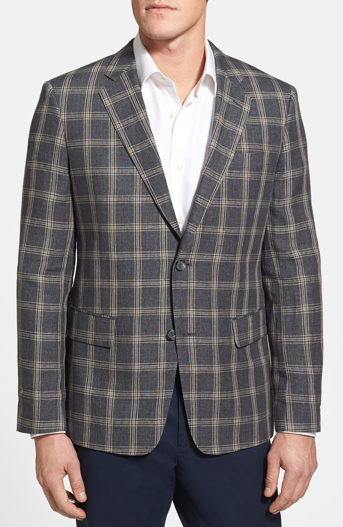 Alternate Image 1 Selected - Nordstrom Classic Fit Linen Sportcoat