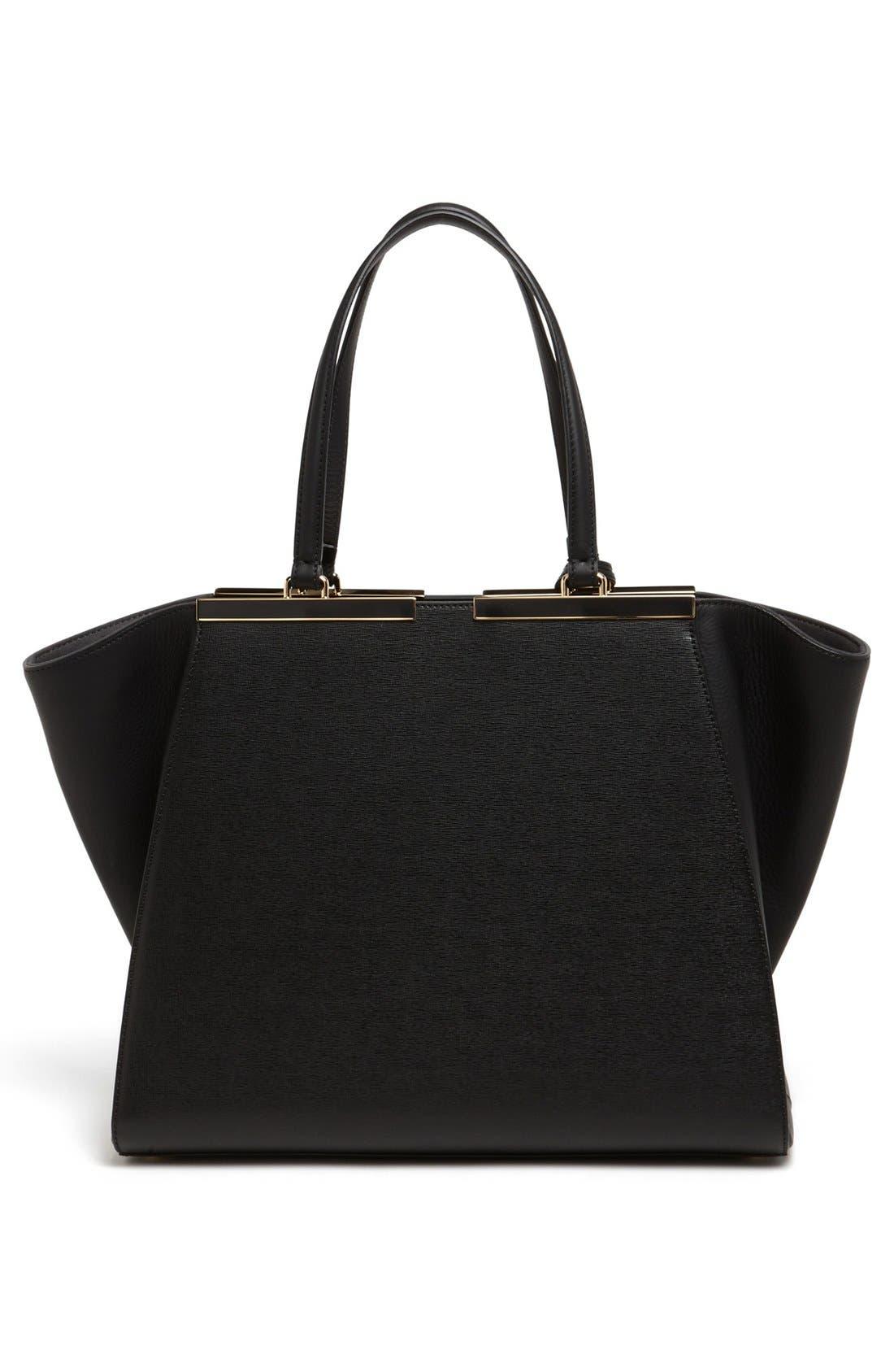 Alternate Image 4  - Fendi '3Jours' Leather Shopper