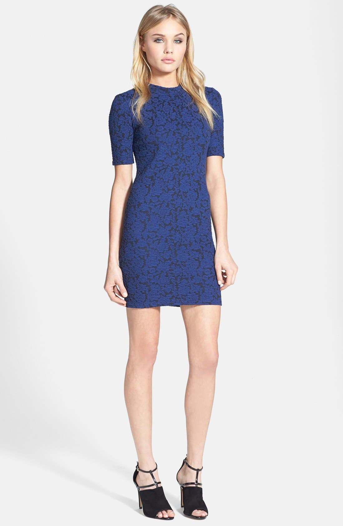 Alternate Image 1 Selected - Topshop Floral Jacquard Body-Con Dress