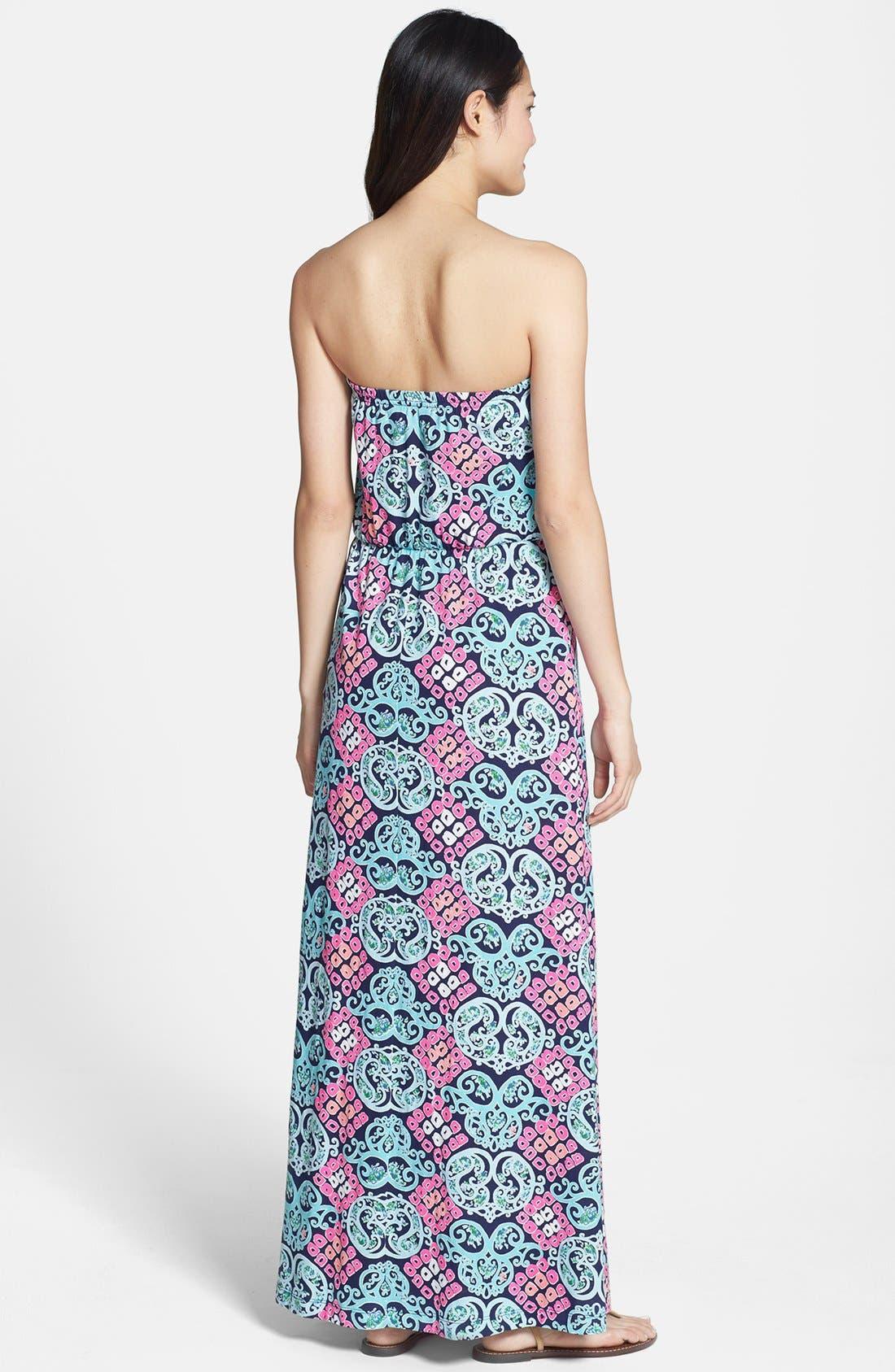 Alternate Image 2  - Lilly Pulitzer® 'Marlisa' Print Cotton Maxi Dress